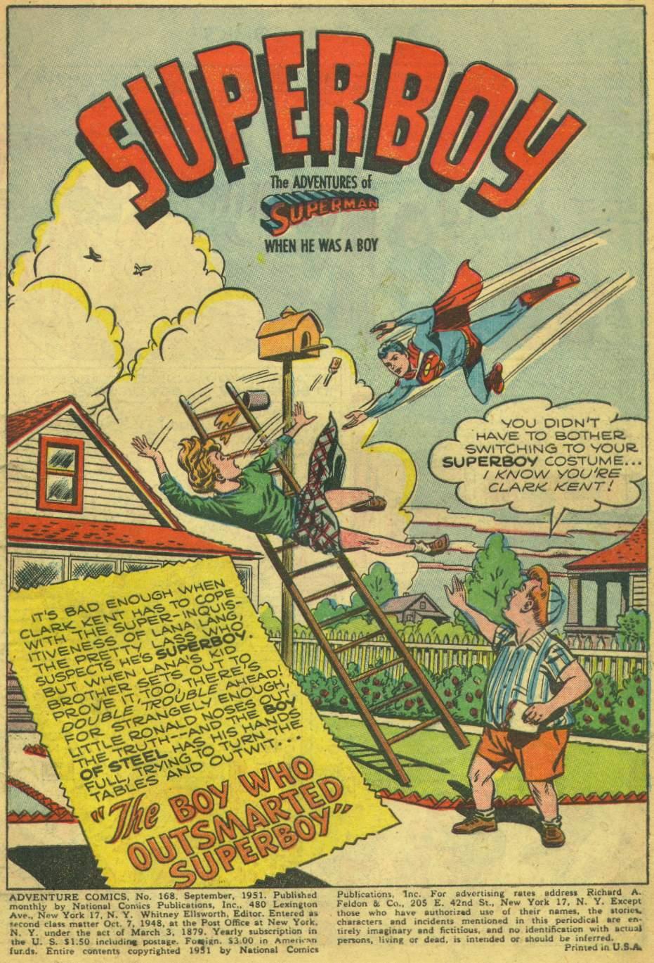 Read online Adventure Comics (1938) comic -  Issue #168 - 3