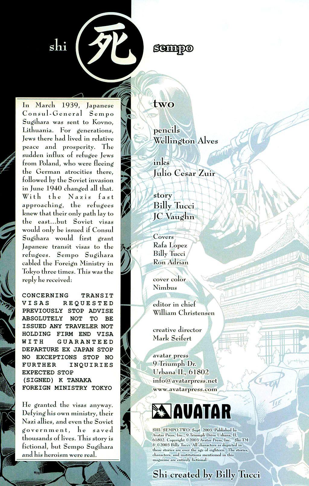 Read online Shi: Sempo comic -  Issue #2 - 2