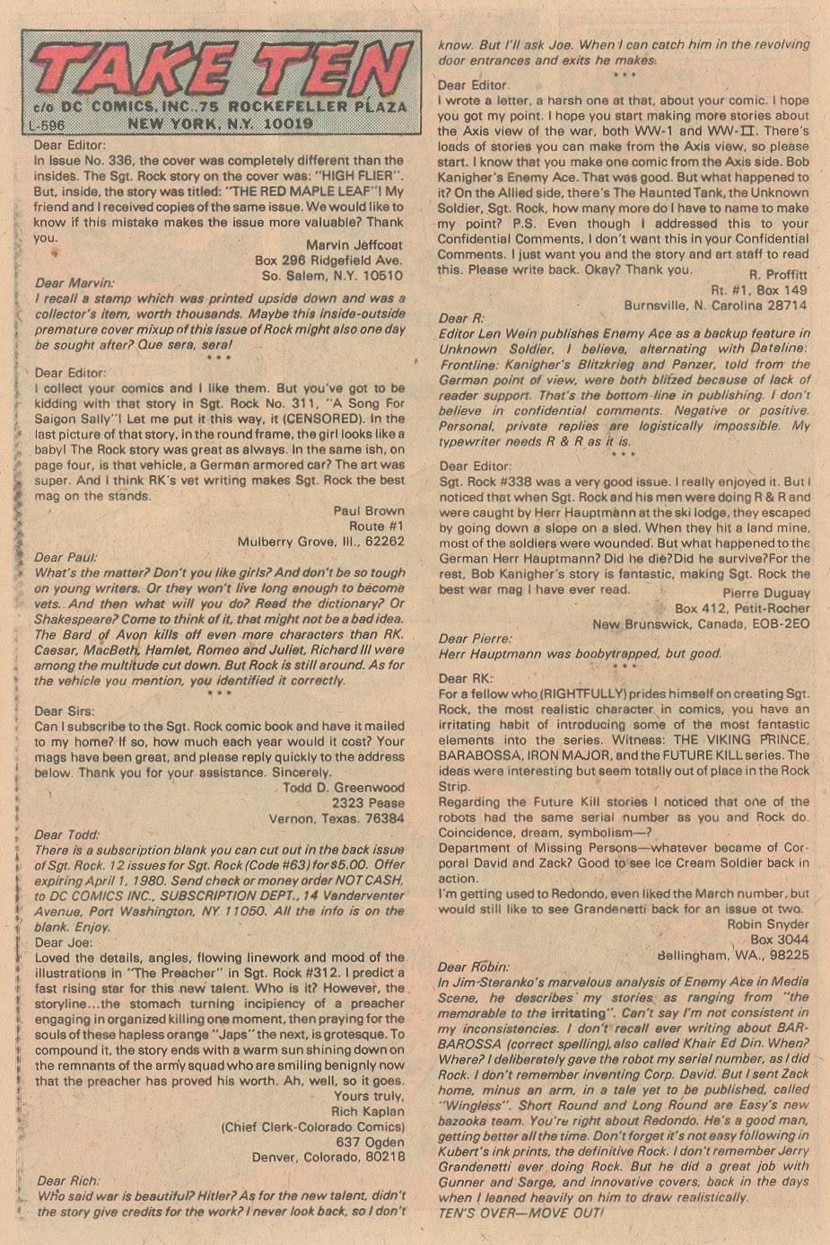 Read online Sgt. Rock comic -  Issue #346 - 22