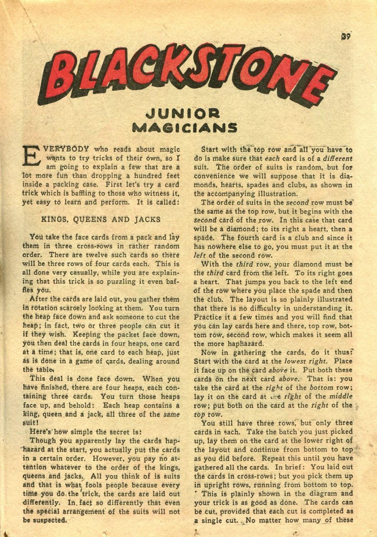Read online Super-Magician Comics comic -  Issue #14 - 38