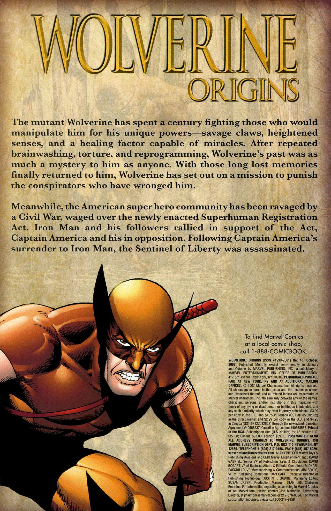 Read online Wolverine: Origins comic -  Issue #16 - 3