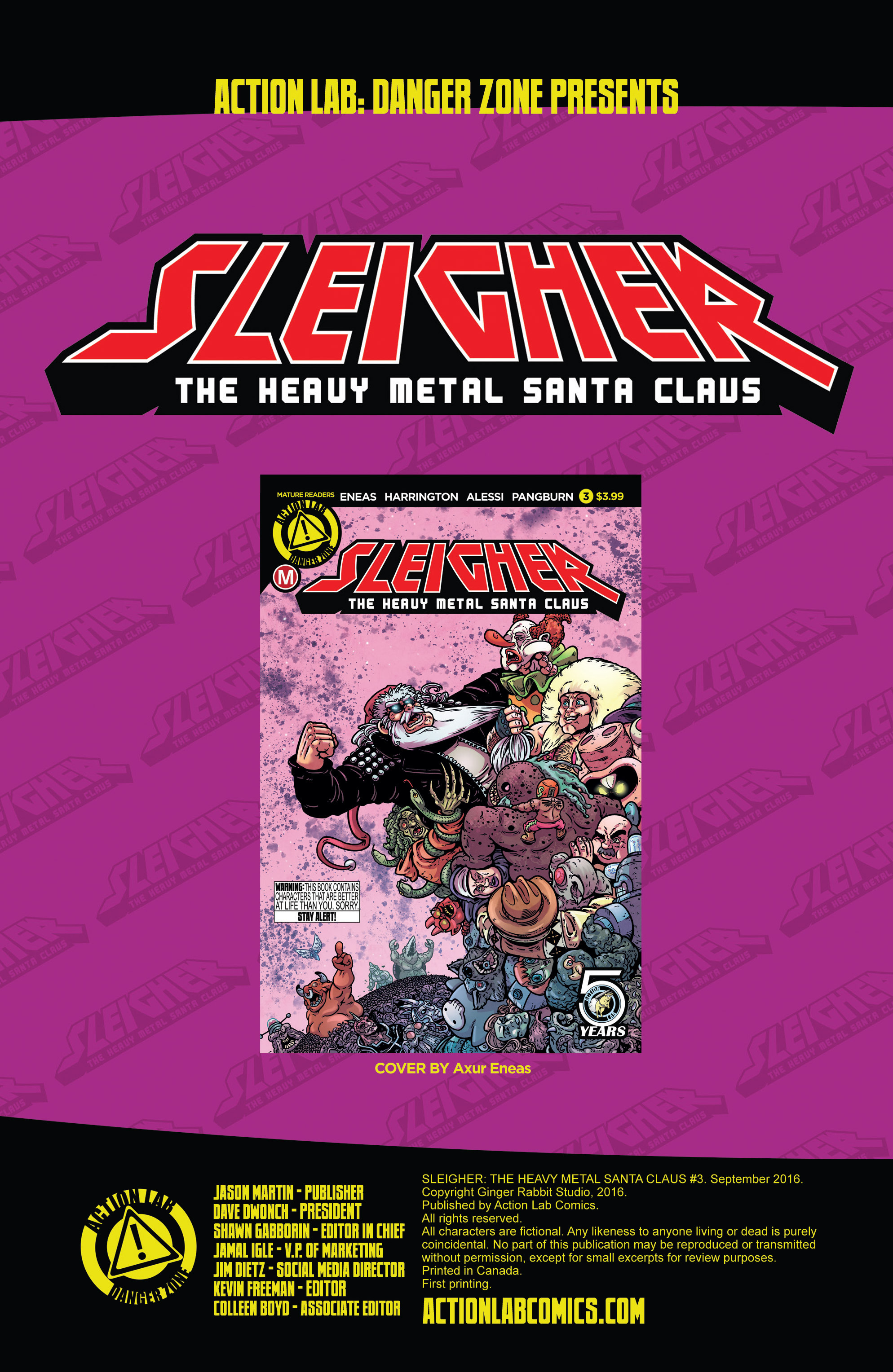 Read online Sleigher comic -  Issue #3 - 2