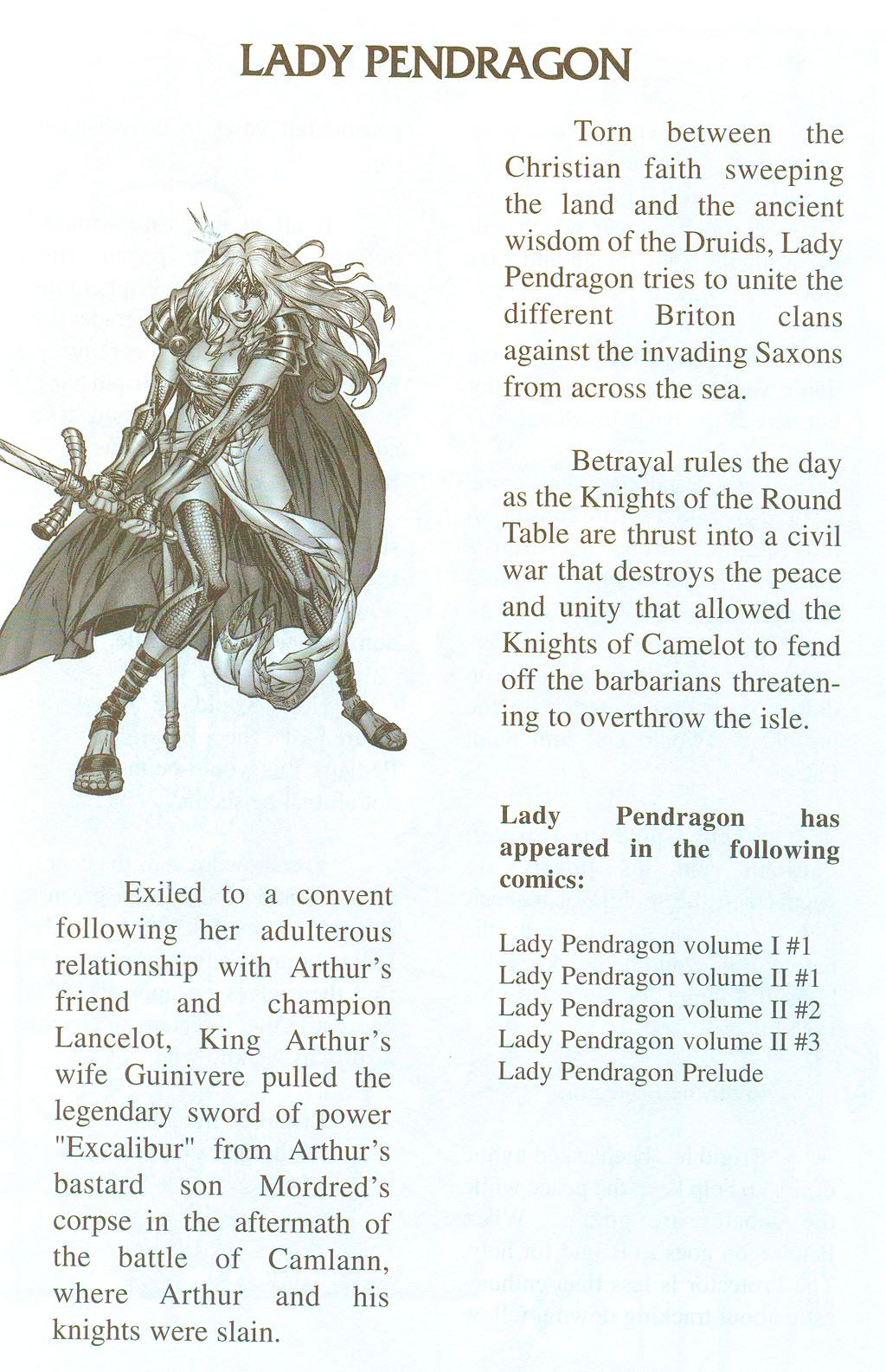 Read online Lady Pendragon / More Than Mortal comic -  Issue # _Preview - 14