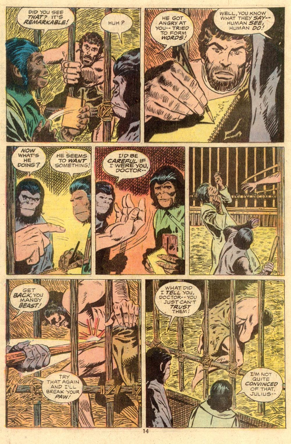 Read online Adventures on the Planet of the Apes comic -  Issue #2 - 9