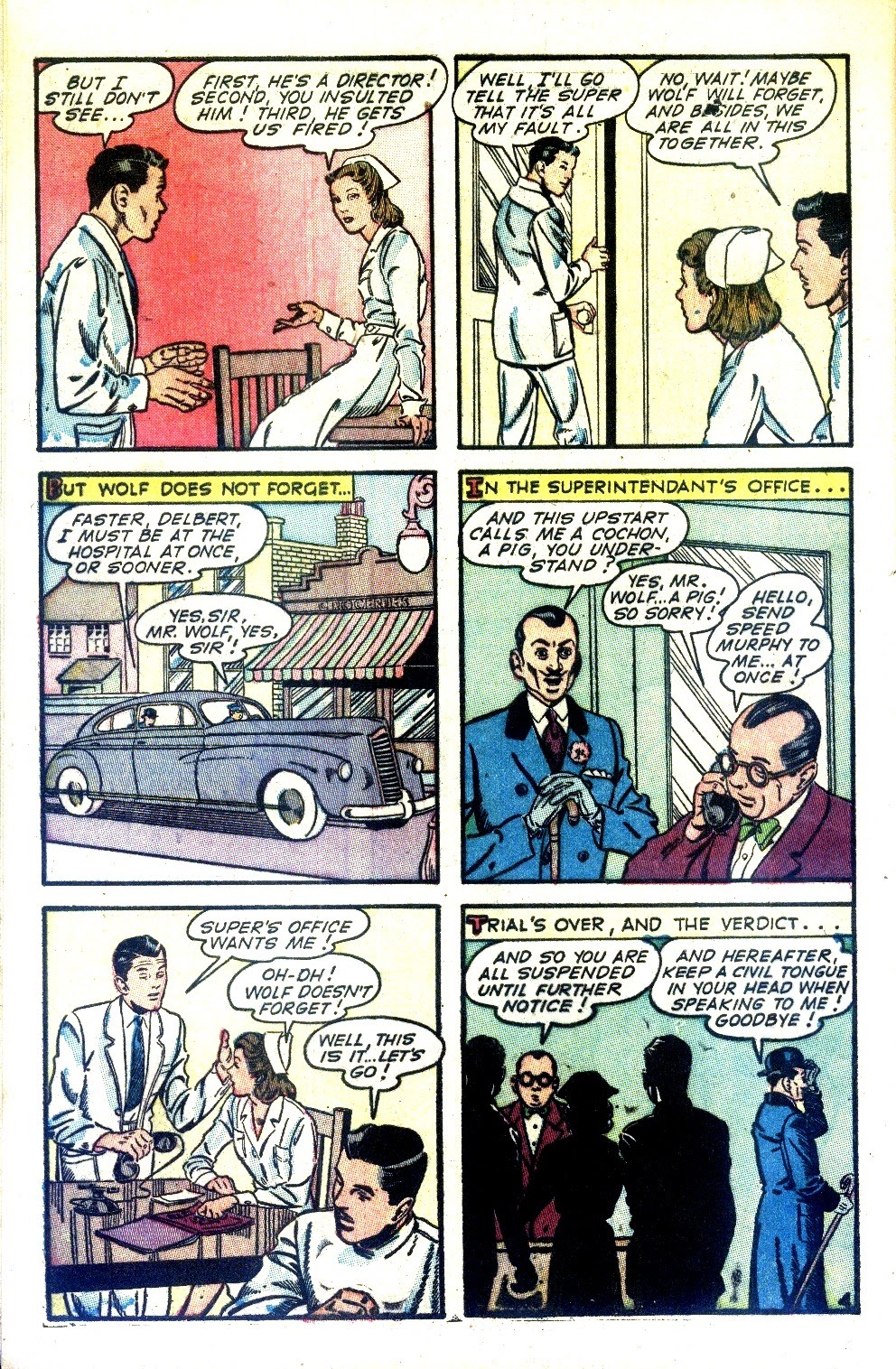 Read online Nellie The Nurse (1945) comic -  Issue #2 - 6