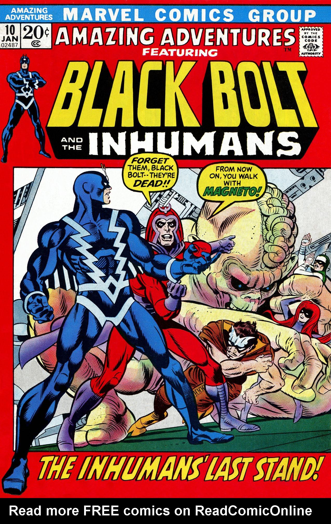 Read online Amazing Adventures (1970) comic -  Issue #10 - 1