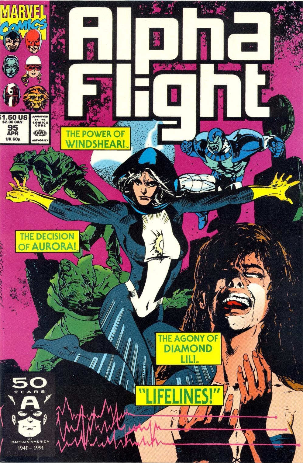 Read online Alpha Flight (1983) comic -  Issue #95 - 1