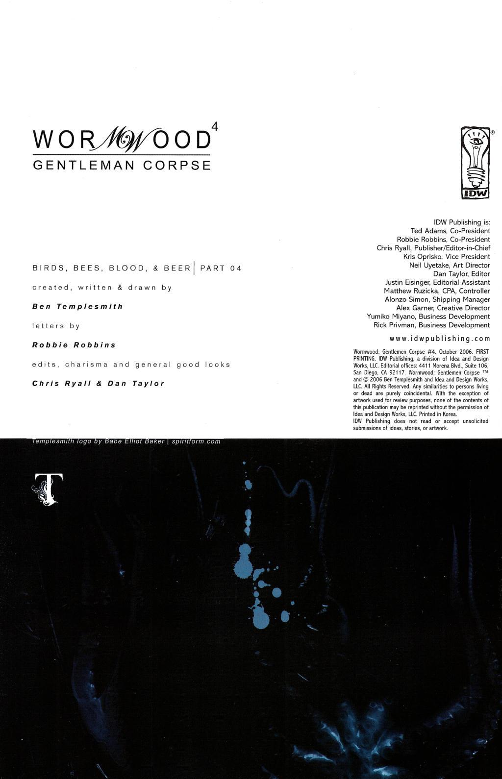 Read online Wormwood: Gentleman Corpse comic -  Issue #4 - 3