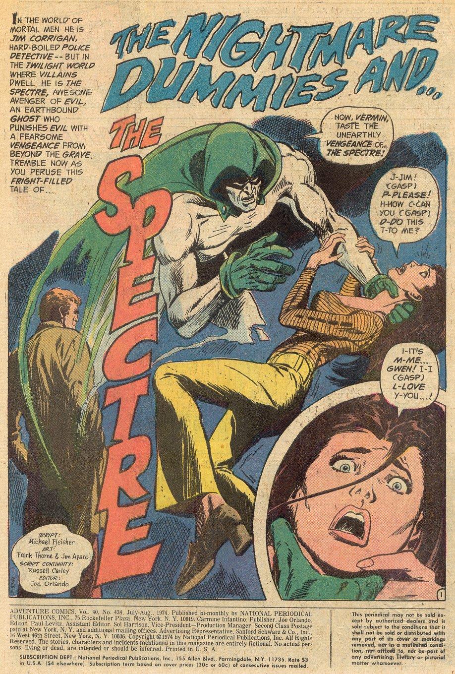 Read online Adventure Comics (1938) comic -  Issue #434 - 2