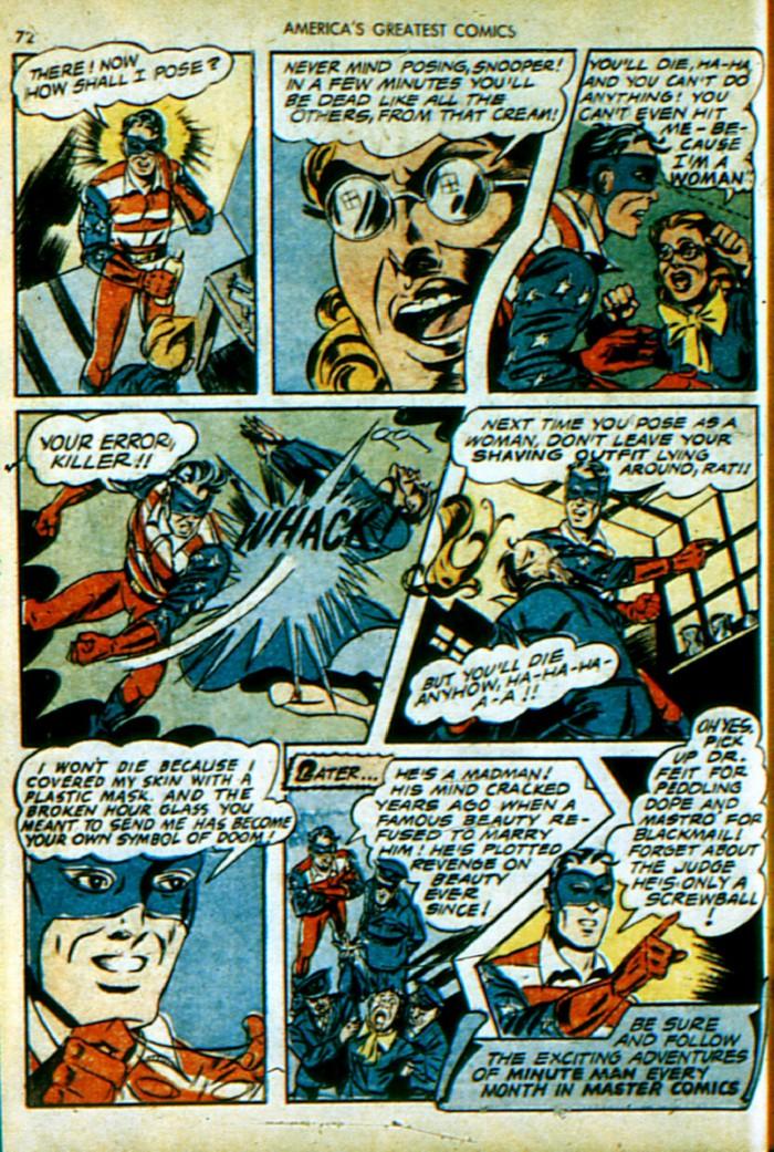 Read online America's Greatest Comics comic -  Issue #4 - 73
