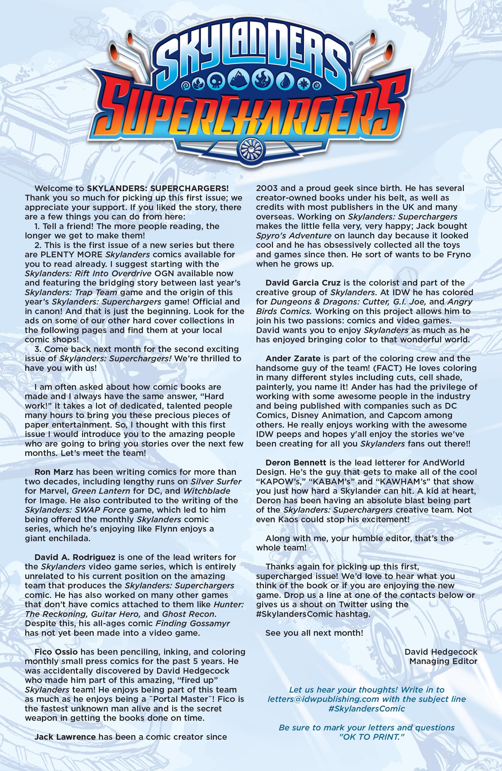 Read online Skylanders Superchargers comic -  Issue #1 - 24