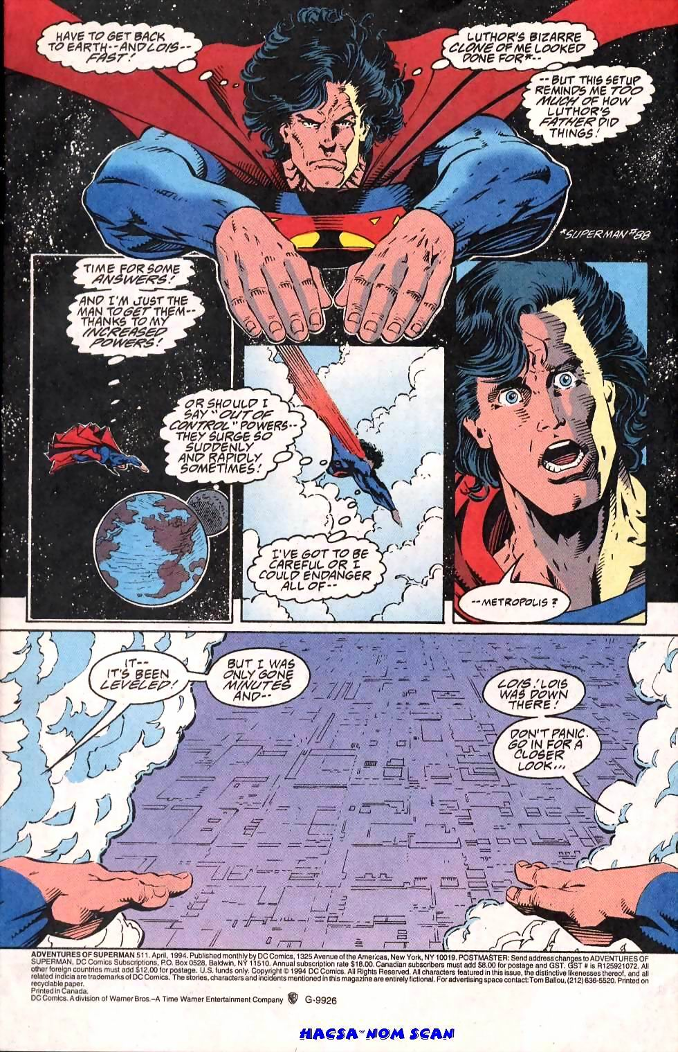 Read online Adventures of Superman (1987) comic -  Issue #511 - 2