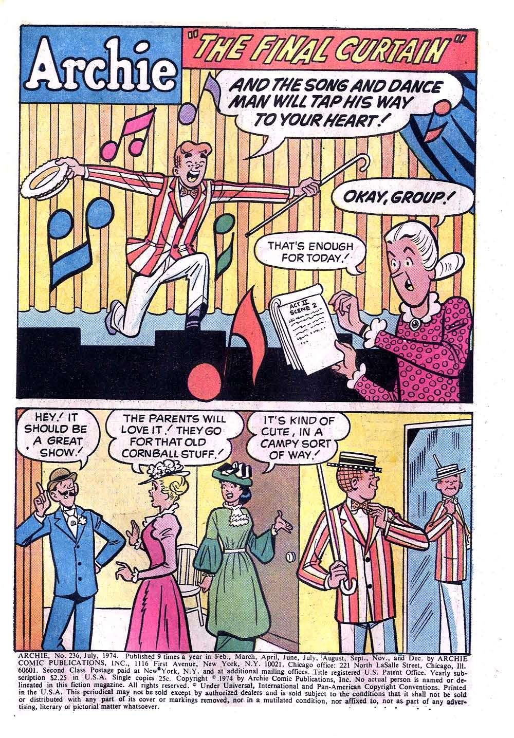 Read online Archie (1960) comic -  Issue #236 - 3