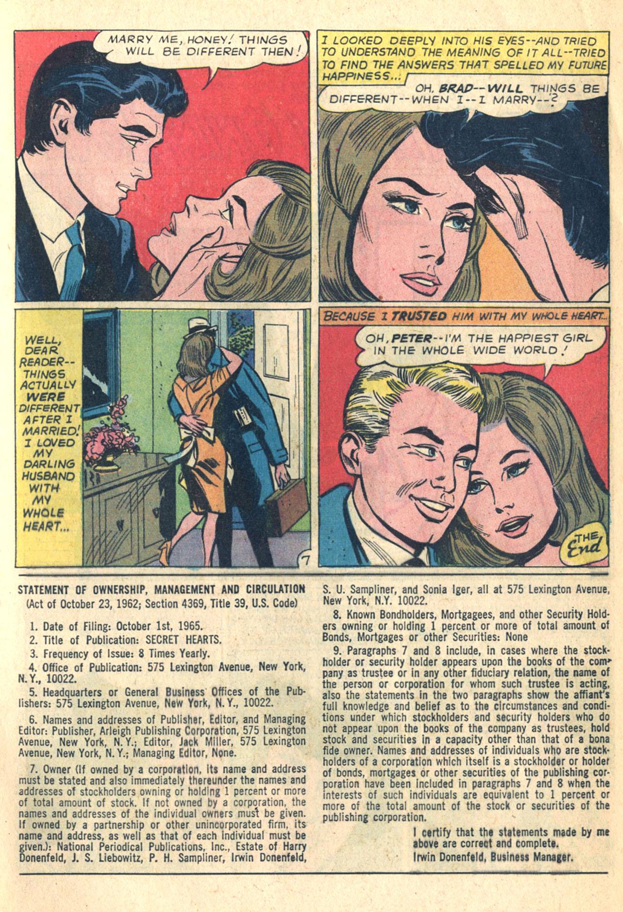 Read online Secret Hearts comic -  Issue #110 - 9