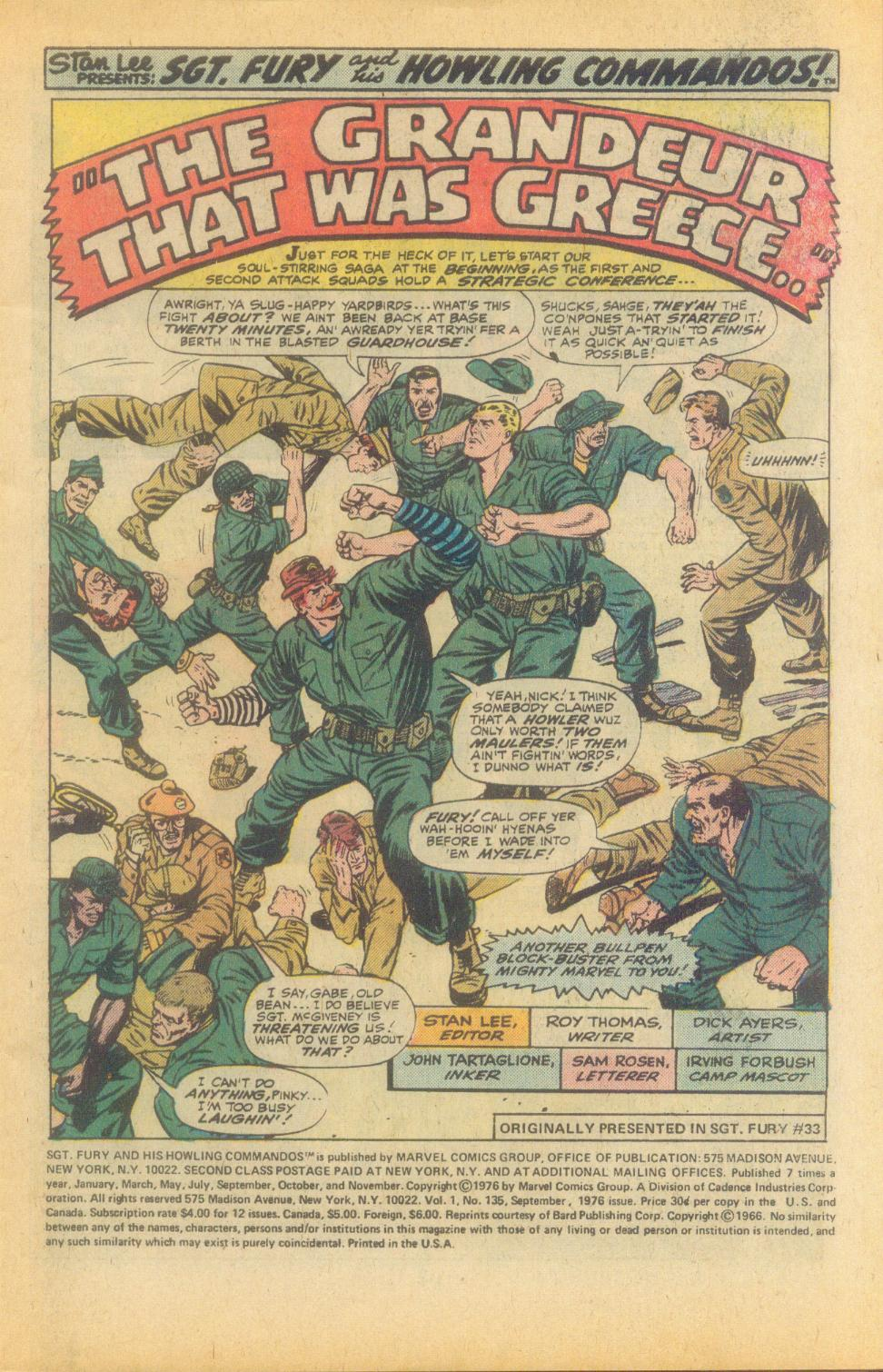 Read online Sgt. Fury comic -  Issue #135 - 3
