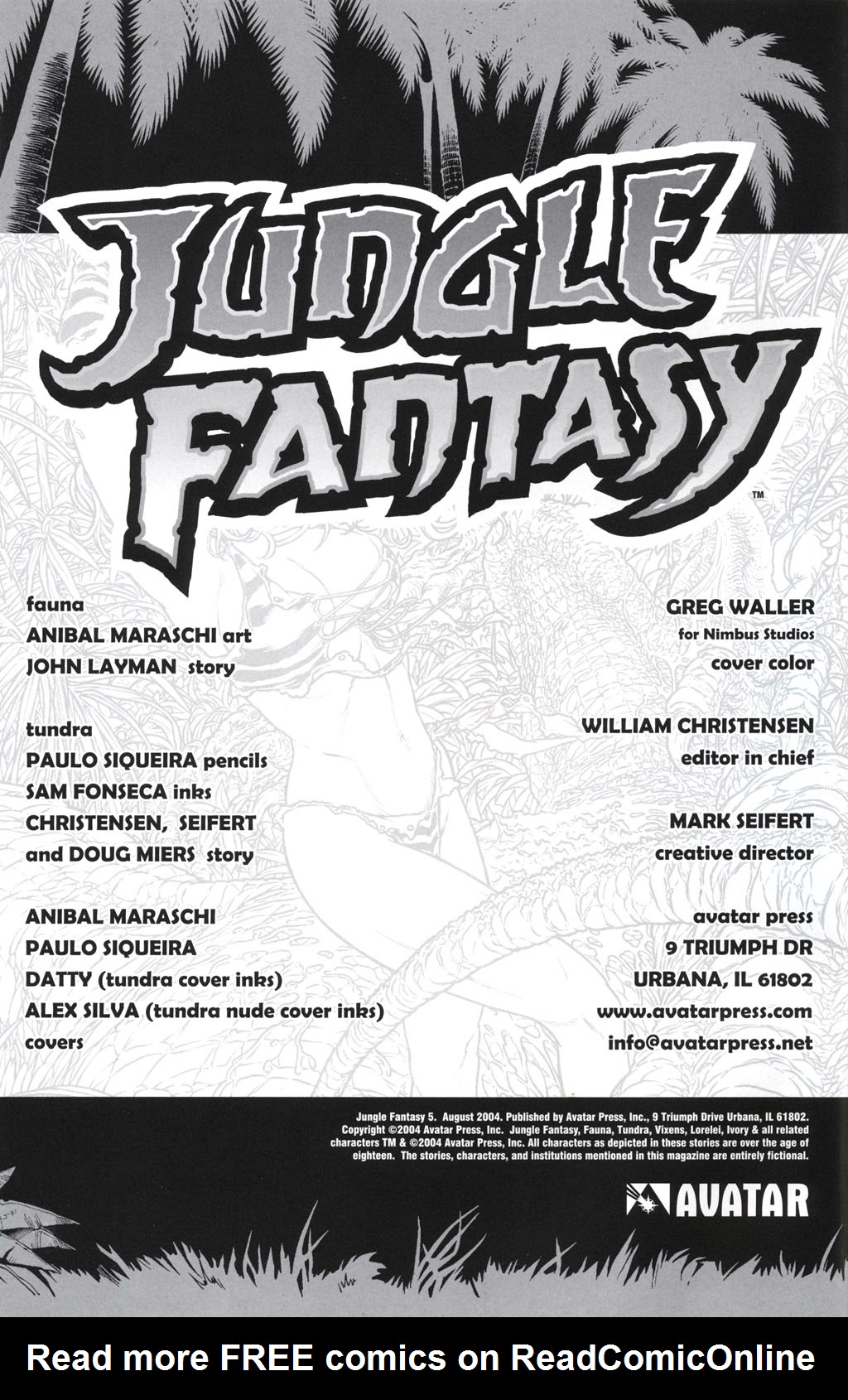Read online Jungle Fantasy (2002) comic -  Issue #5 - 4