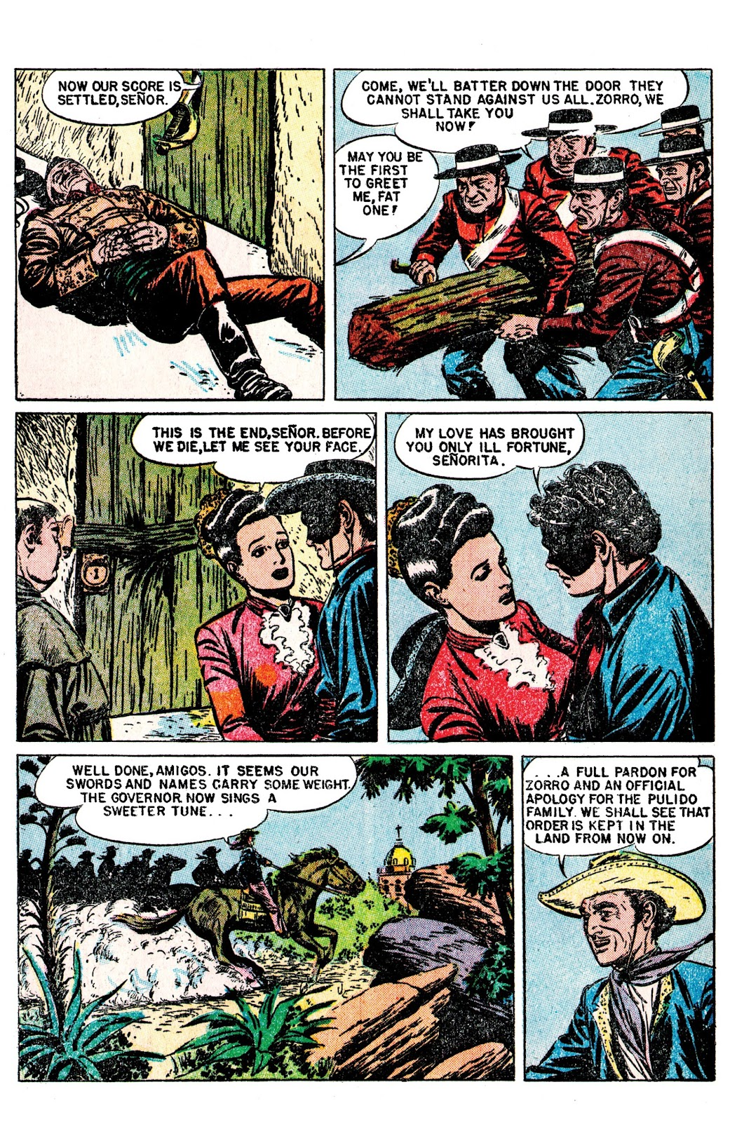 Read online AM Archives: The Mark of Zorro #1 1949 Dell Edition comic -  Issue #1 1949 Dell Edition Full - 32