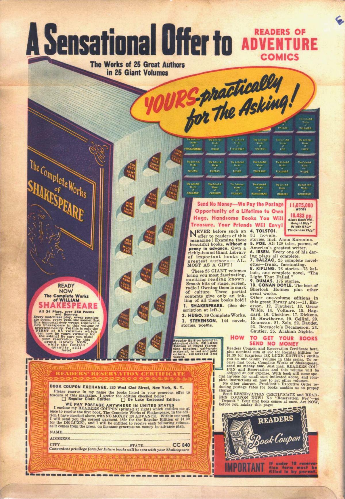 Read online Adventure Comics (1938) comic -  Issue #53 - 70