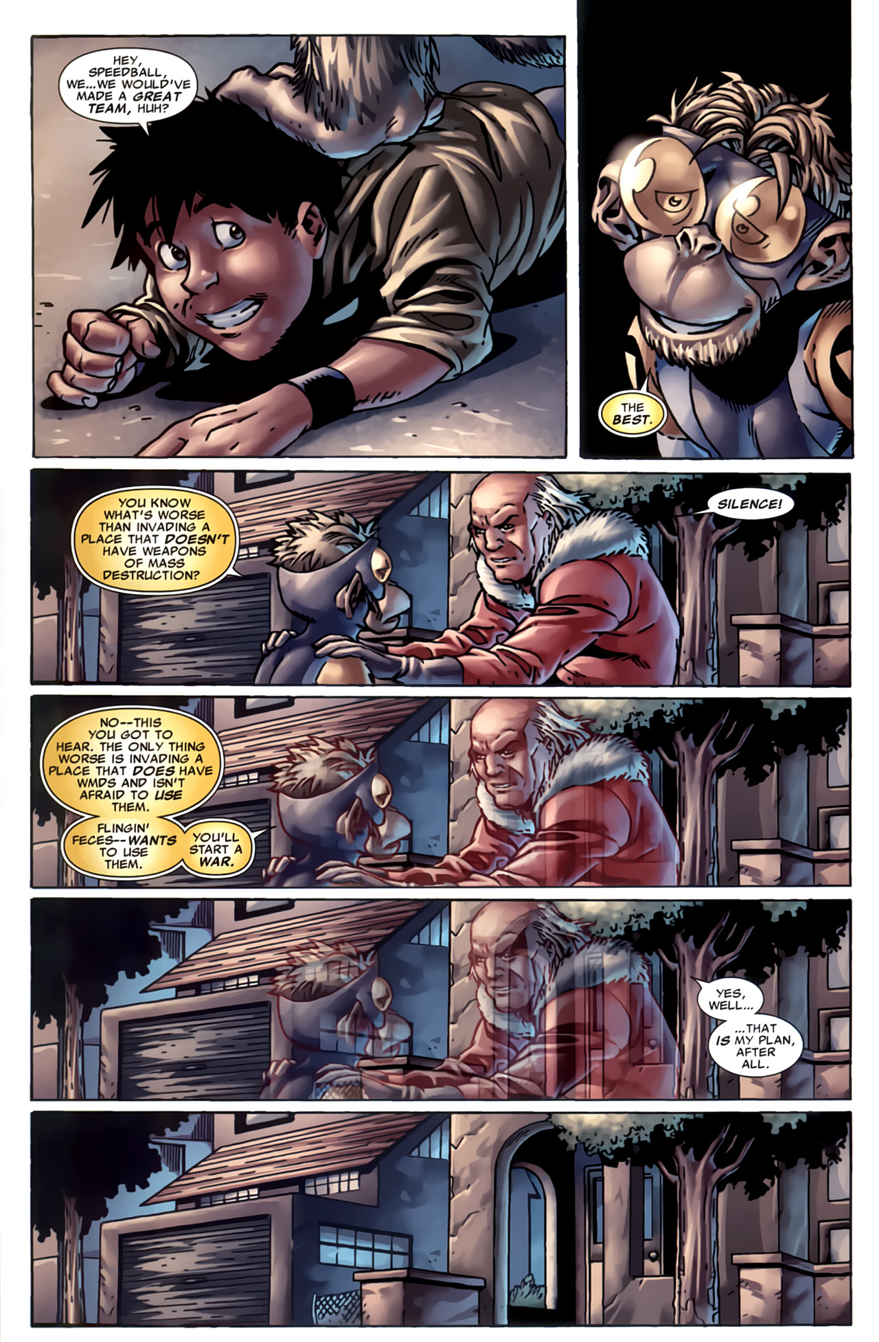 Read online Marvel Apes: Speedball Special comic -  Issue # Full - 32