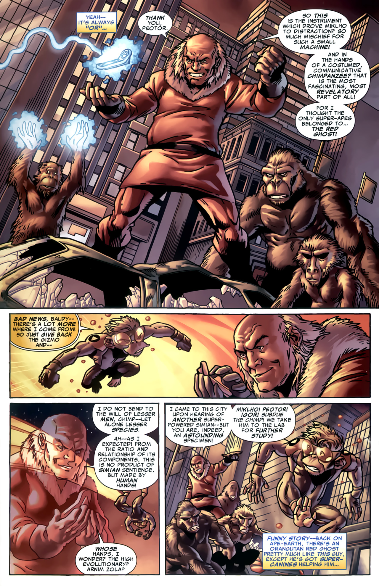 Read online Marvel Apes: Speedball Special comic -  Issue # Full - 20