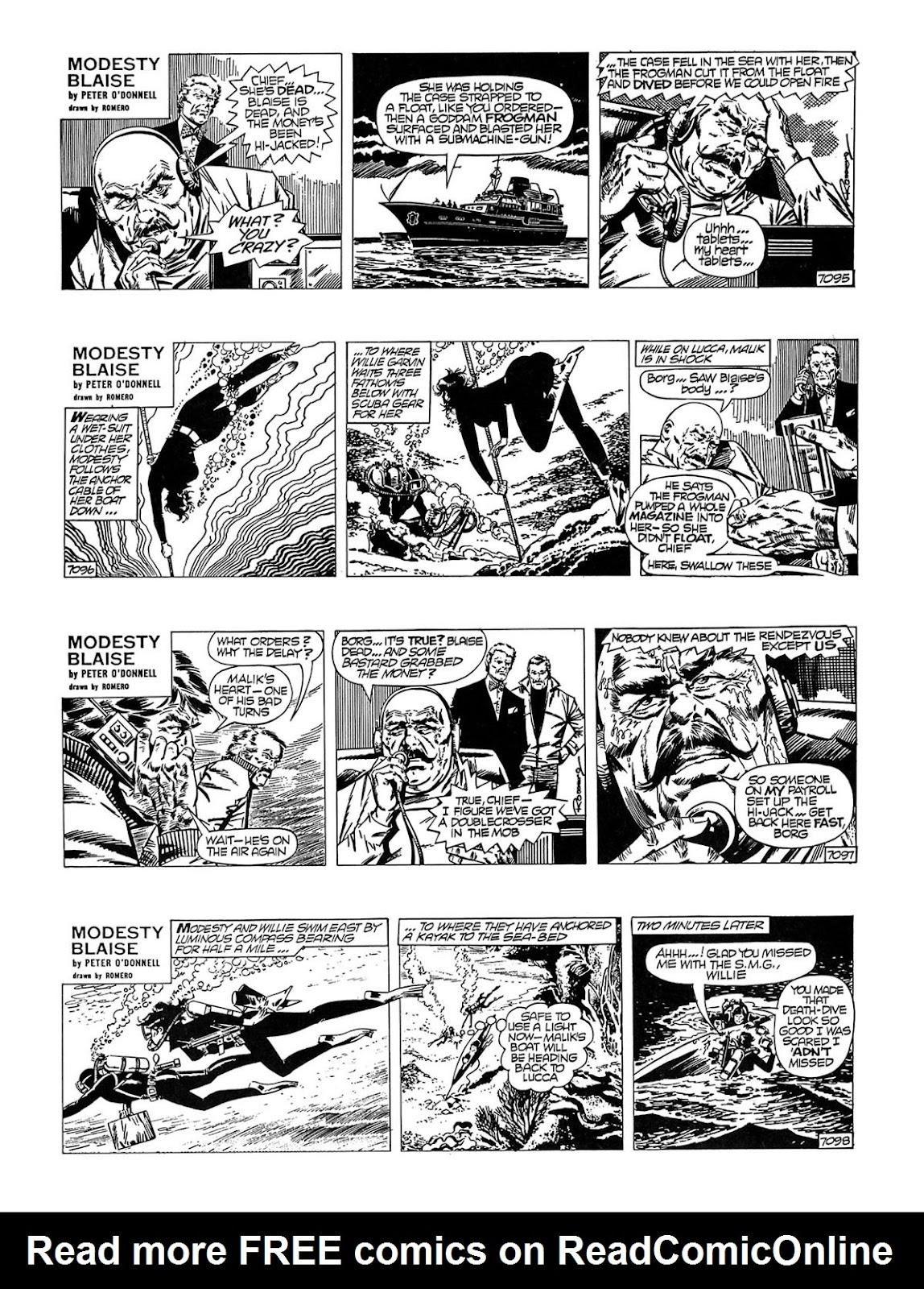 Read online Modesty Blaise Live bait comic -  Issue # TPB - 20