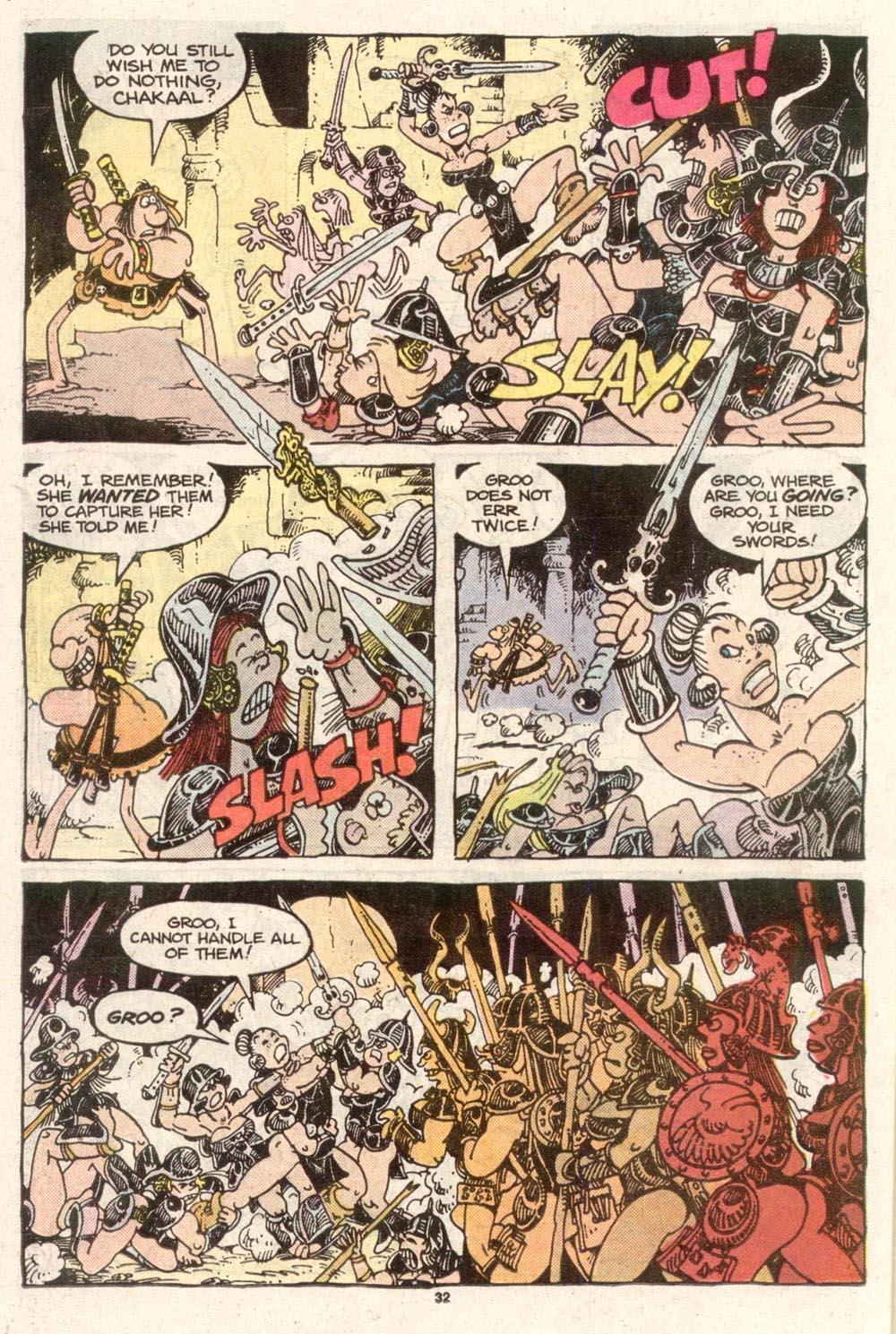 Read online Sergio Aragonés Groo the Wanderer comic -  Issue #50 - 32