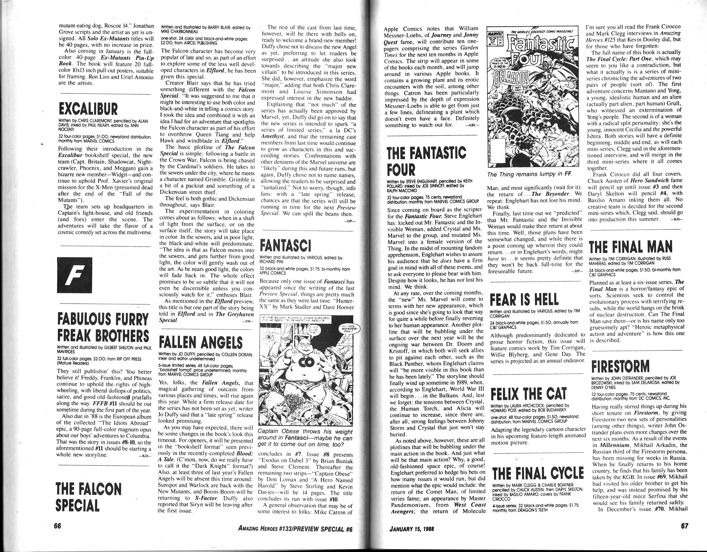 Read online Amazing Heroes comic -  Issue #133 - 35