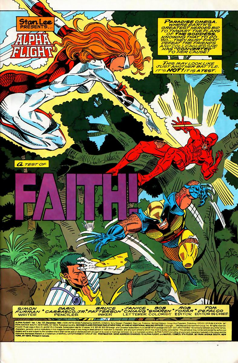 Read online Alpha Flight (1983) comic -  Issue #127 - 2