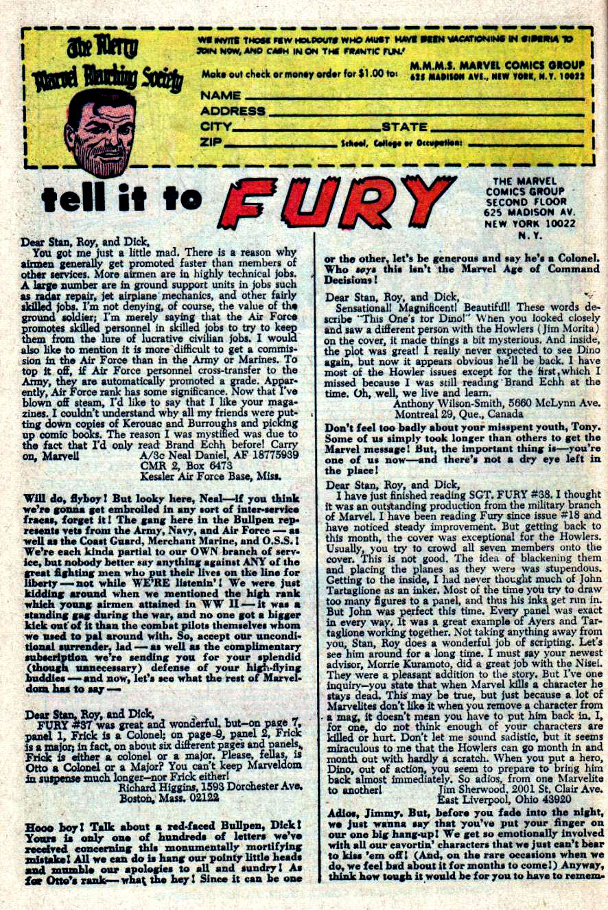 Read online Sgt. Fury comic -  Issue #41 - 32