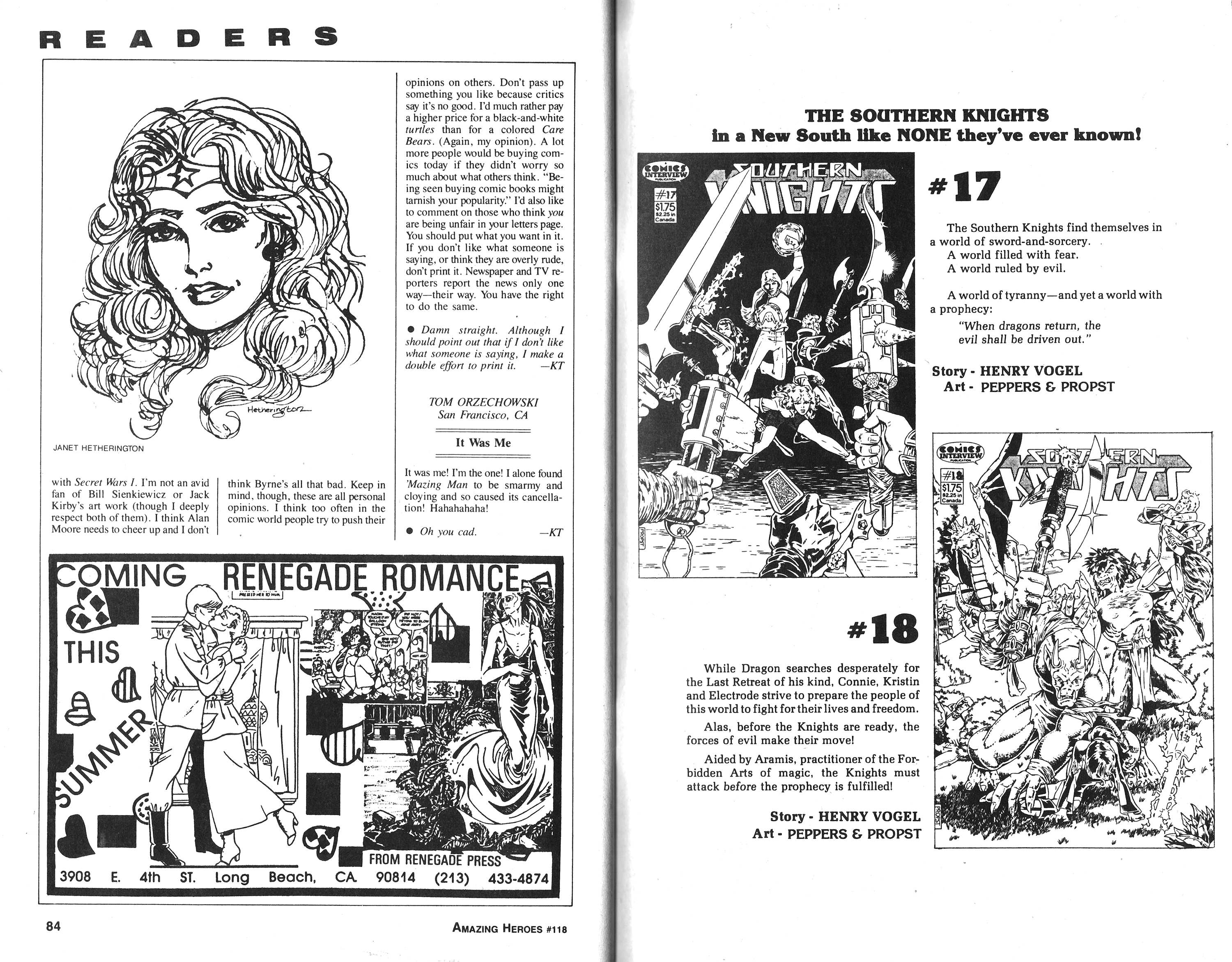 Read online Amazing Heroes comic -  Issue #118 - 42