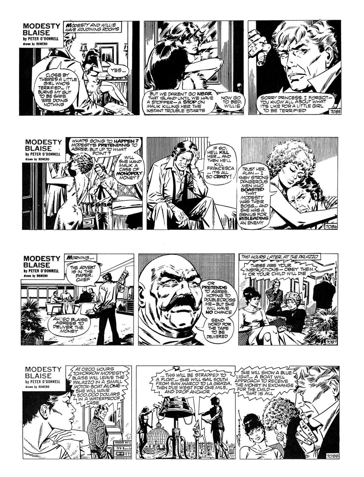 Read online Modesty Blaise Live bait comic -  Issue # TPB - 17