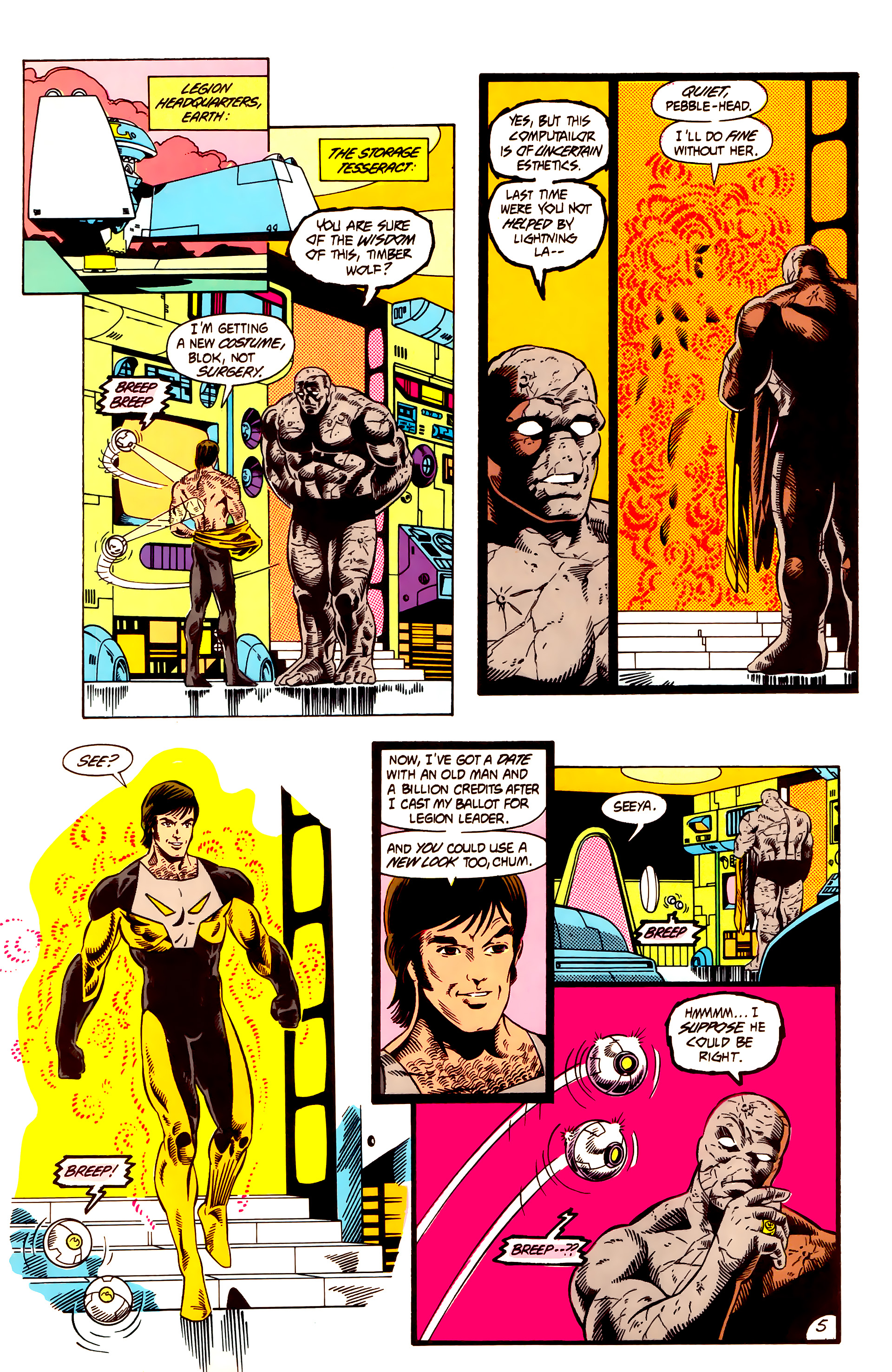 Legion of Super-Heroes (1984) 12 Page 5