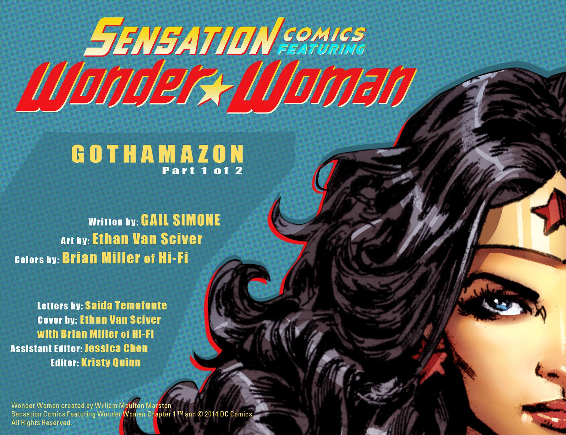Read online Sensation Comics Featuring Wonder Woman comic -  Issue #1 - 2