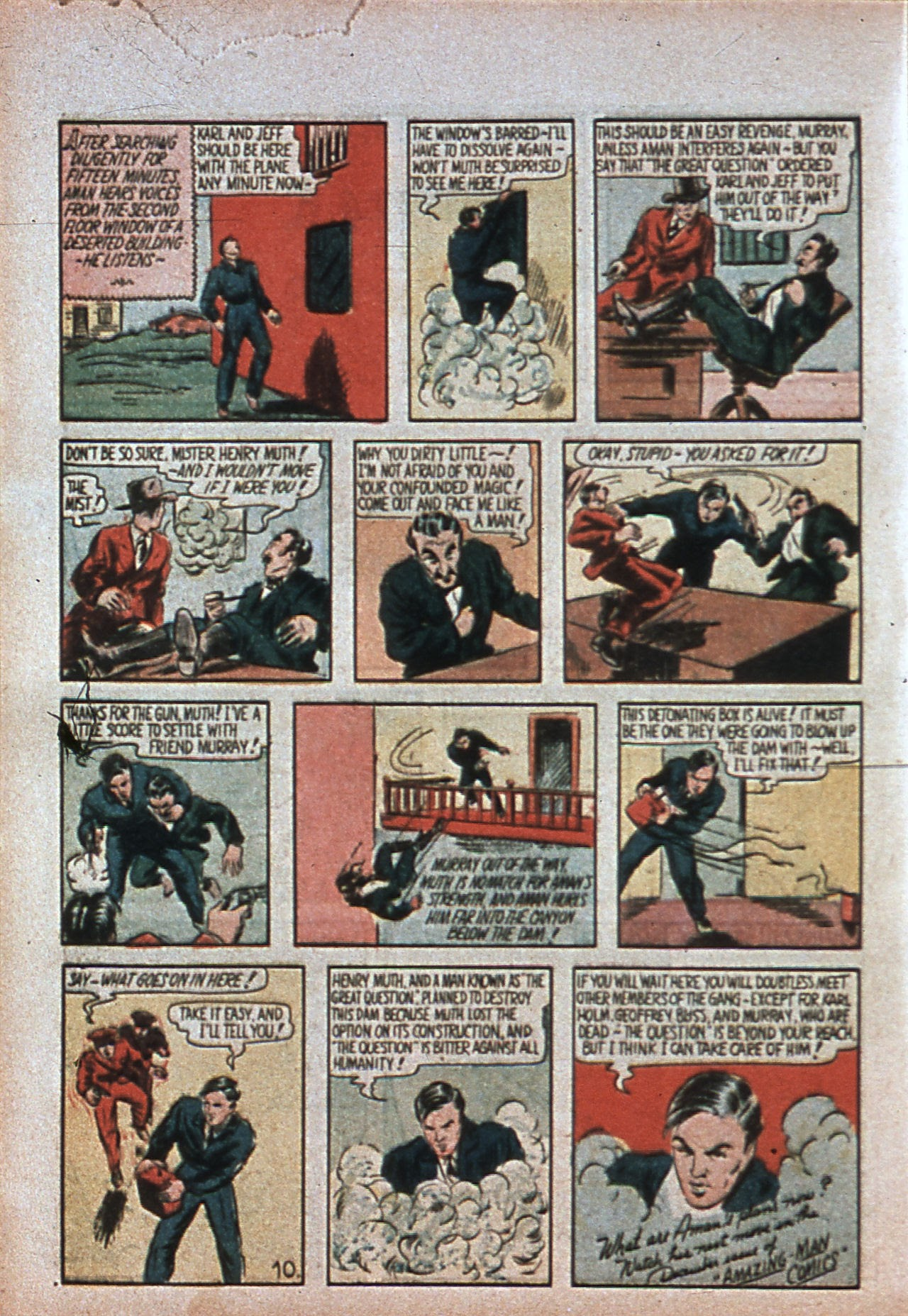 Read online Amazing Man Comics comic -  Issue #7 - 13