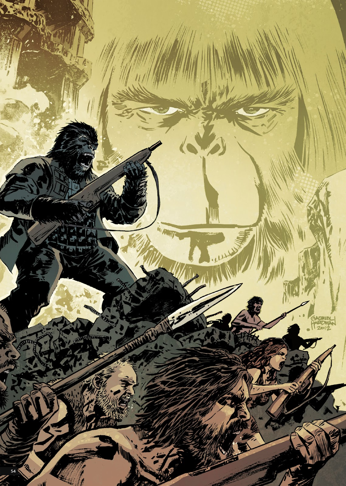 Read online Planet of the Apes Artist Tribute comic -  Issue # TPB - 54