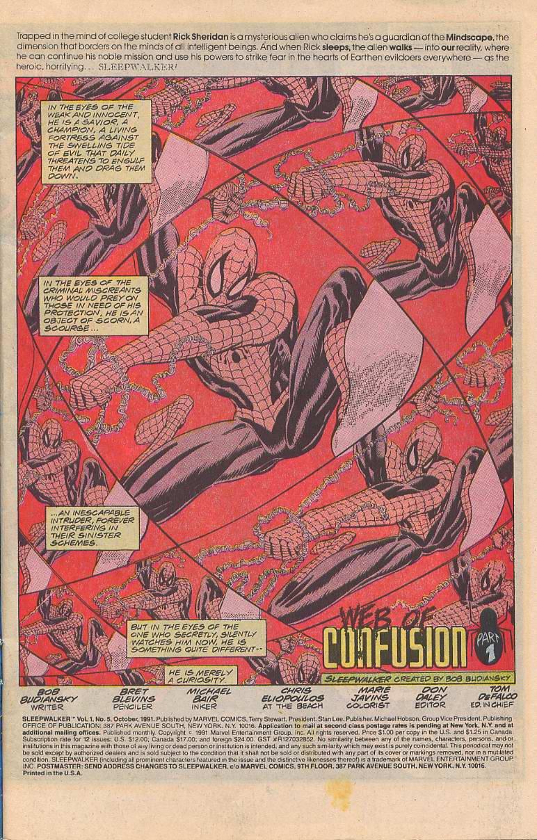 Read online Sleepwalker comic -  Issue #5 - 2
