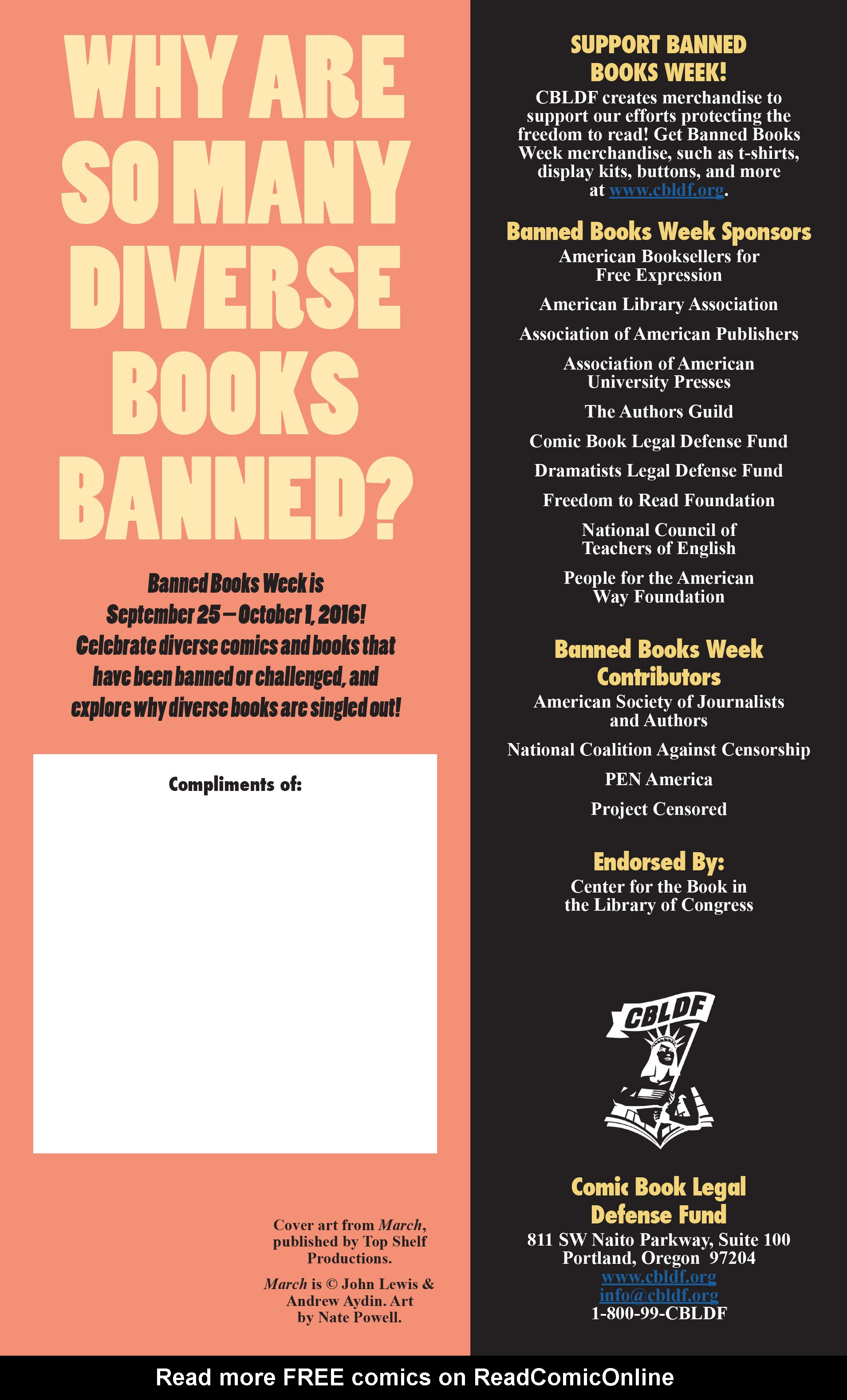 Read online CBLDF Banned Books Week Handbook 2016 comic -  Issue # Full - 15