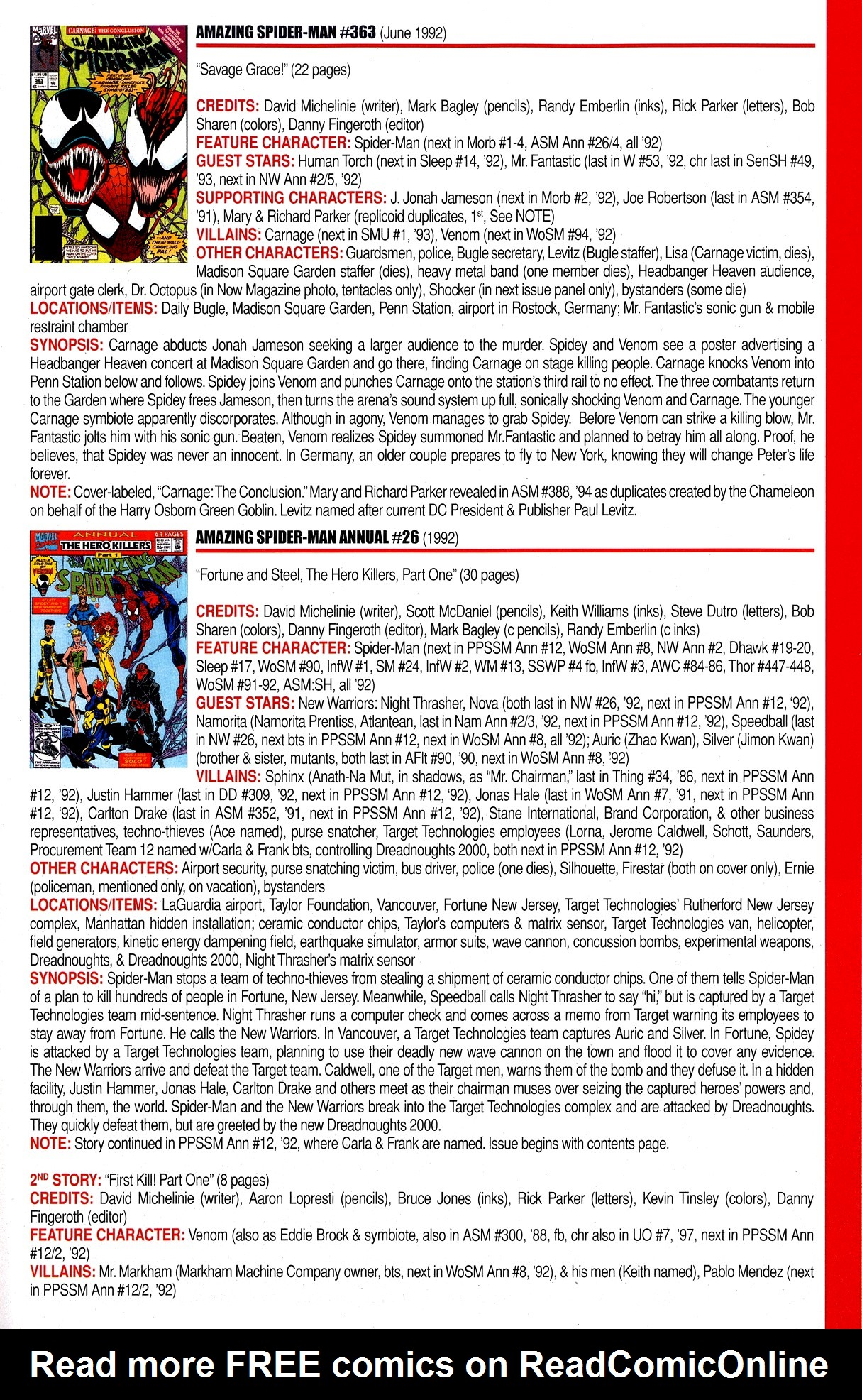 Read online Official Index to the Marvel Universe comic -  Issue #8 - 21