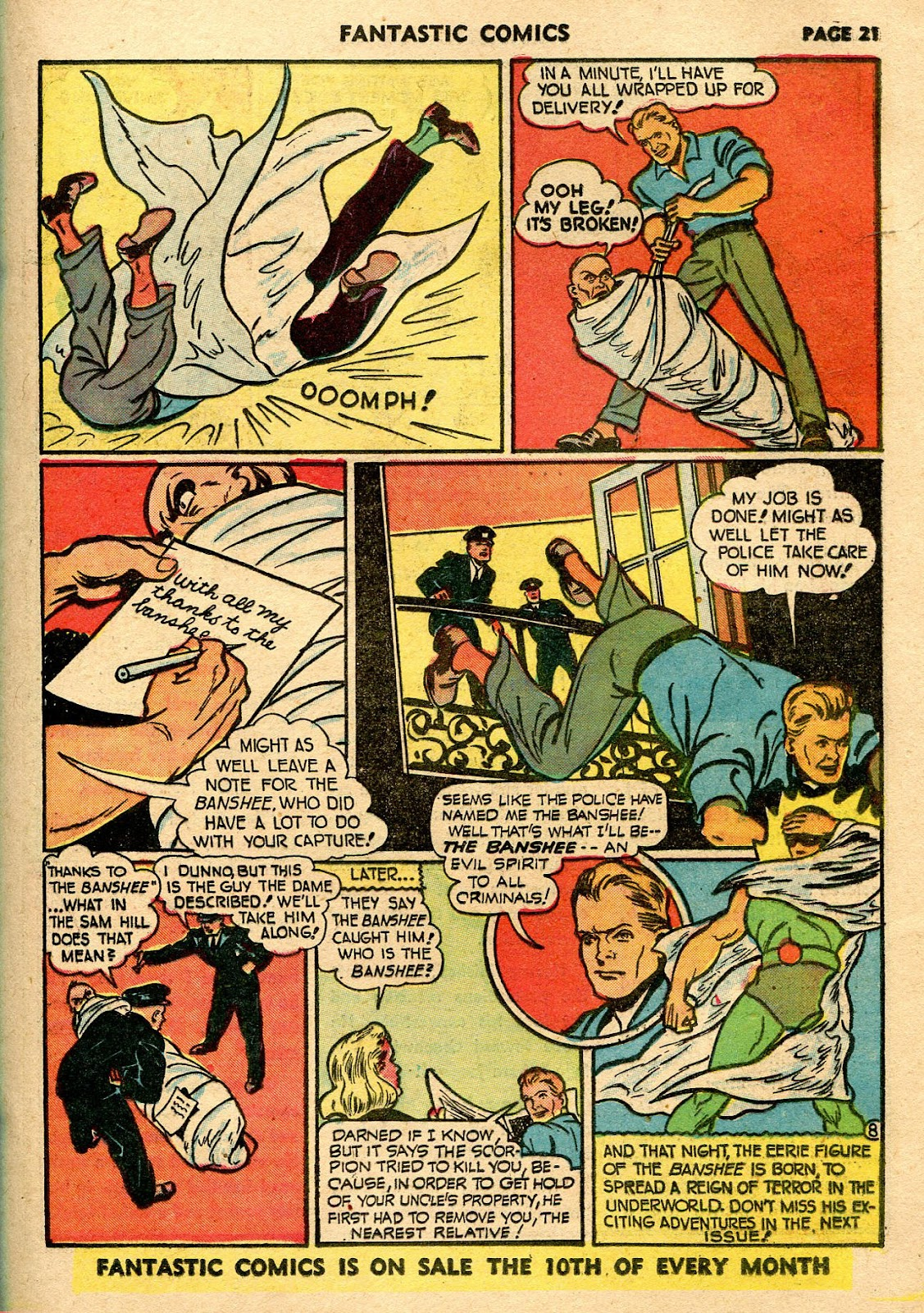 Read online Fantastic Comics comic -  Issue #21 - 23