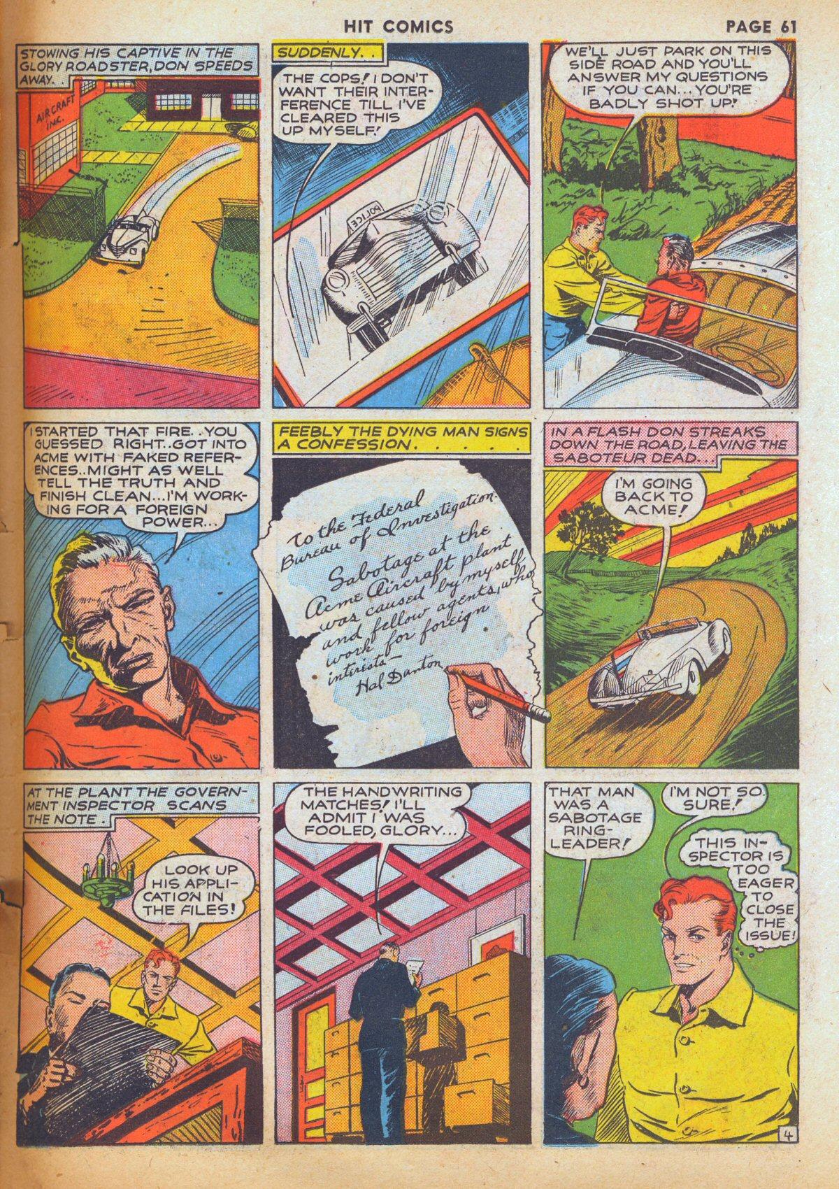 Read online Hit Comics comic -  Issue #12 - 63