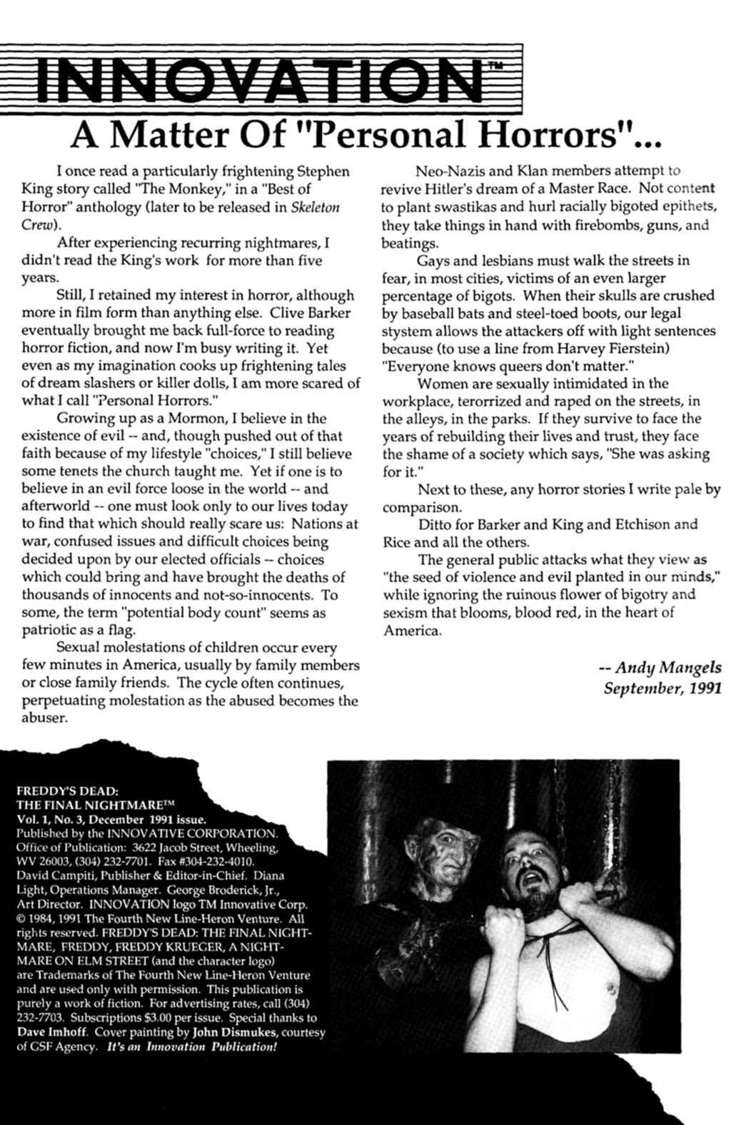 Read online Freddy's Dead: The Final Nightmare comic -  Issue #3 - 2