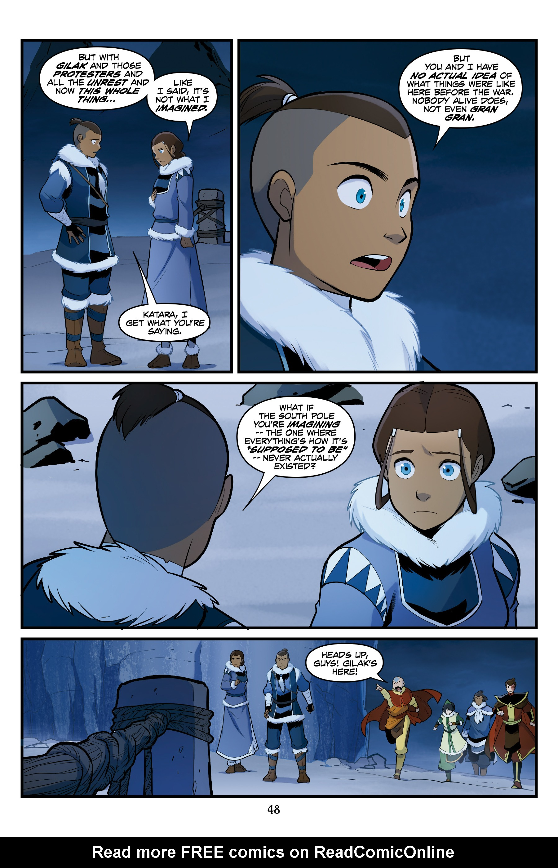 Read online Nickelodeon Avatar: The Last Airbender - North and South comic -  Issue #3 - 48