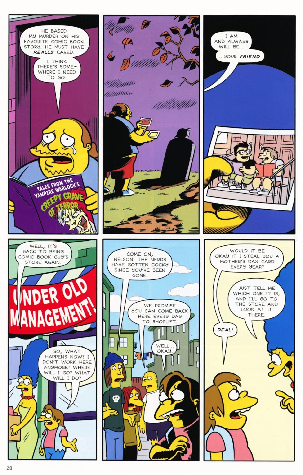 Read online Bongo Comics presents Comic Book Guy: The Comic Book comic -  Issue #5 - 30