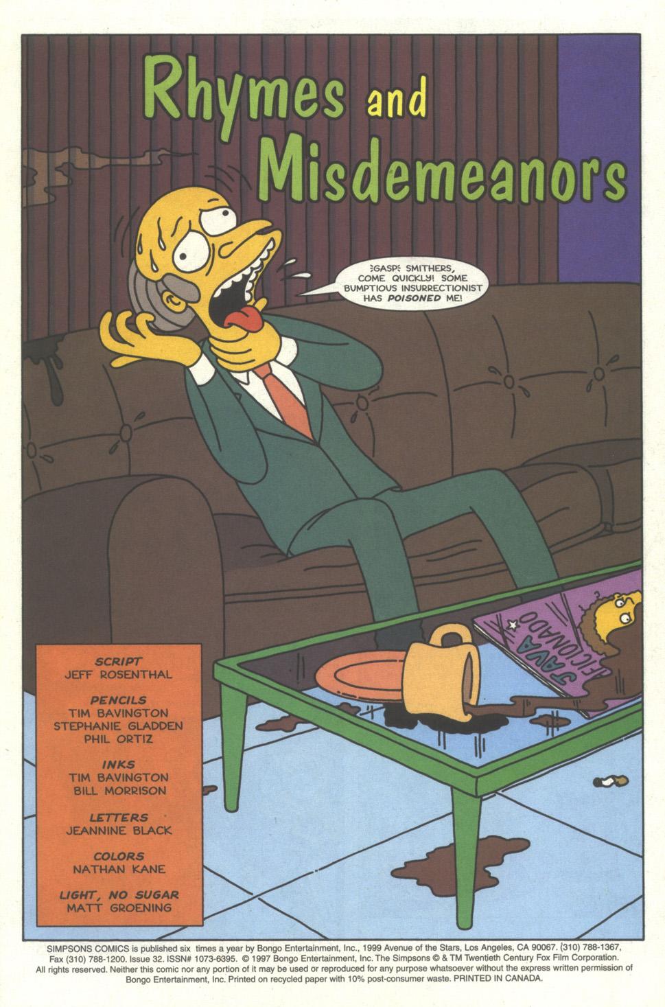 Read online Simpsons Comics comic -  Issue #32 - 2
