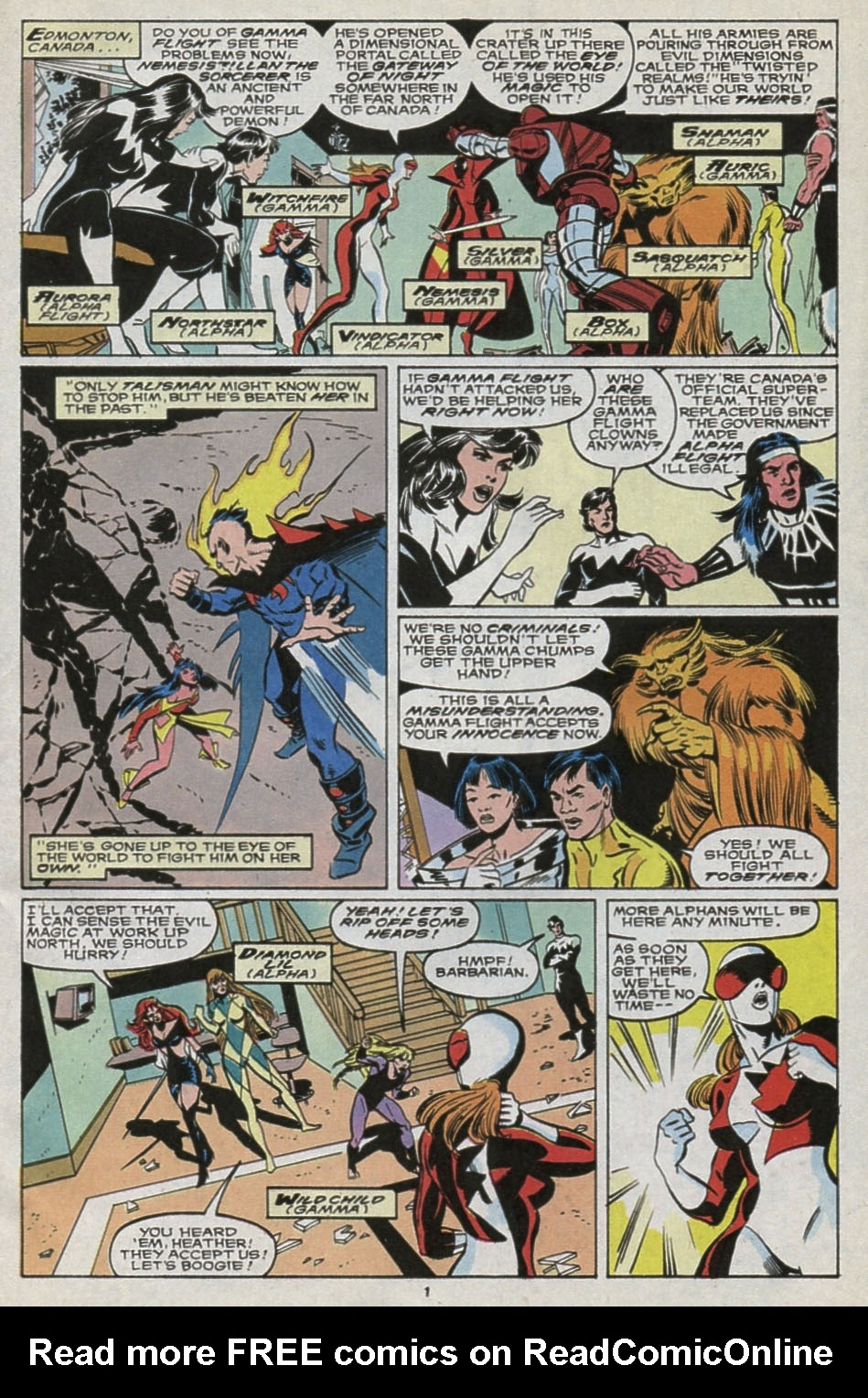 Read online Alpha Flight (1983) comic -  Issue #85 - 2