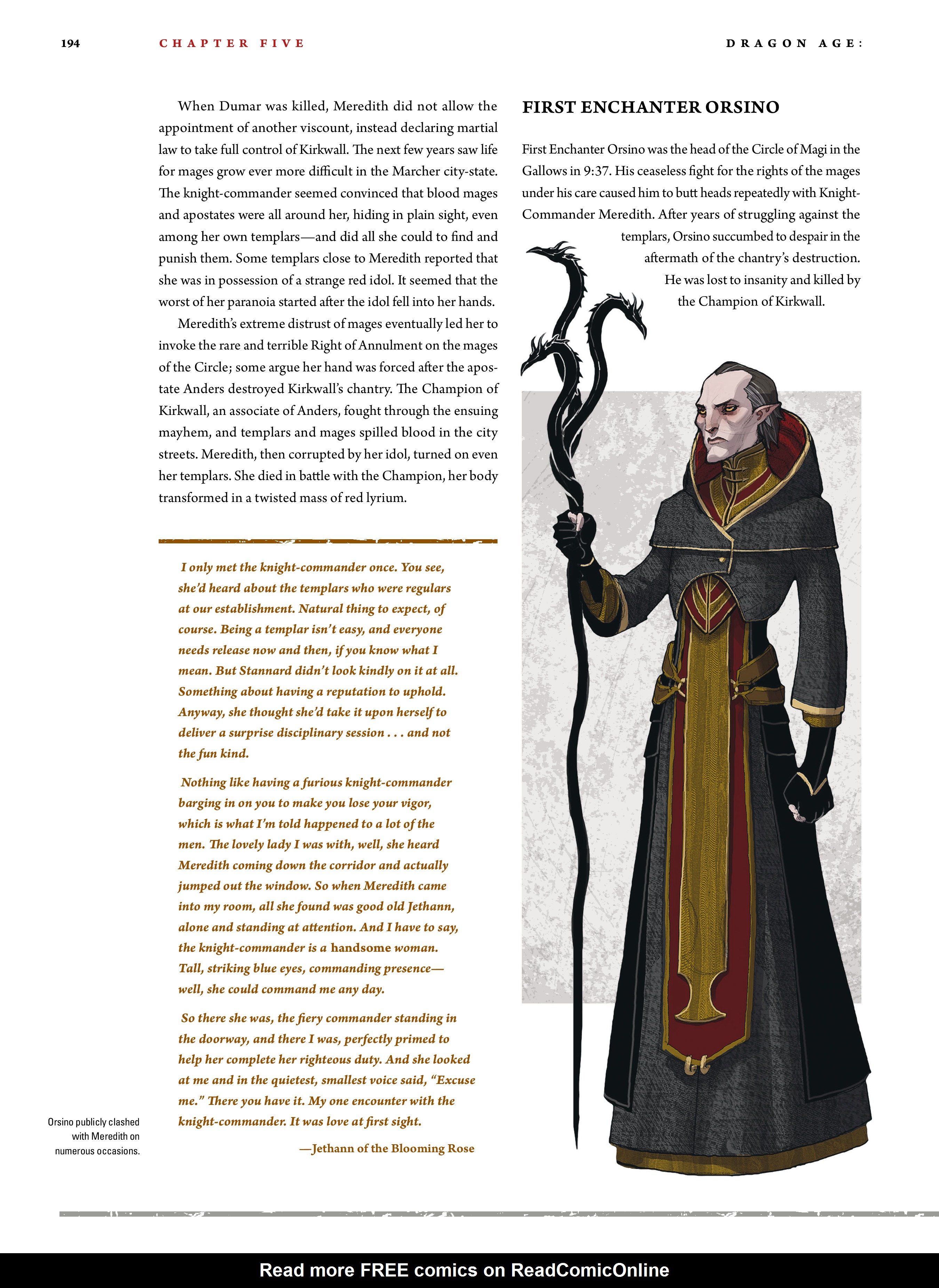 Read online Dragon Age: The World of Thedas comic -  Issue # TPB 2 - 189