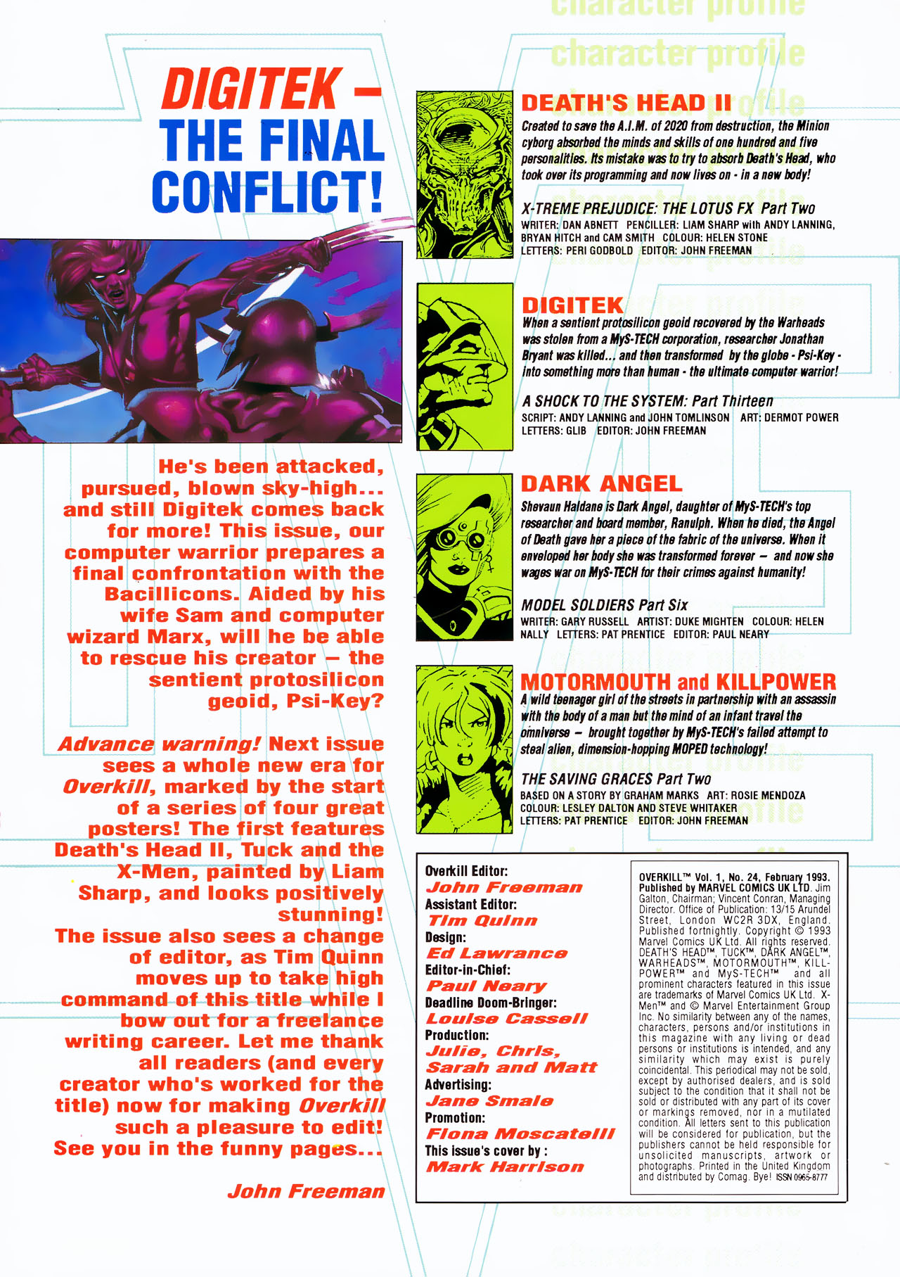 Read online Overkill comic -  Issue #24 - 2