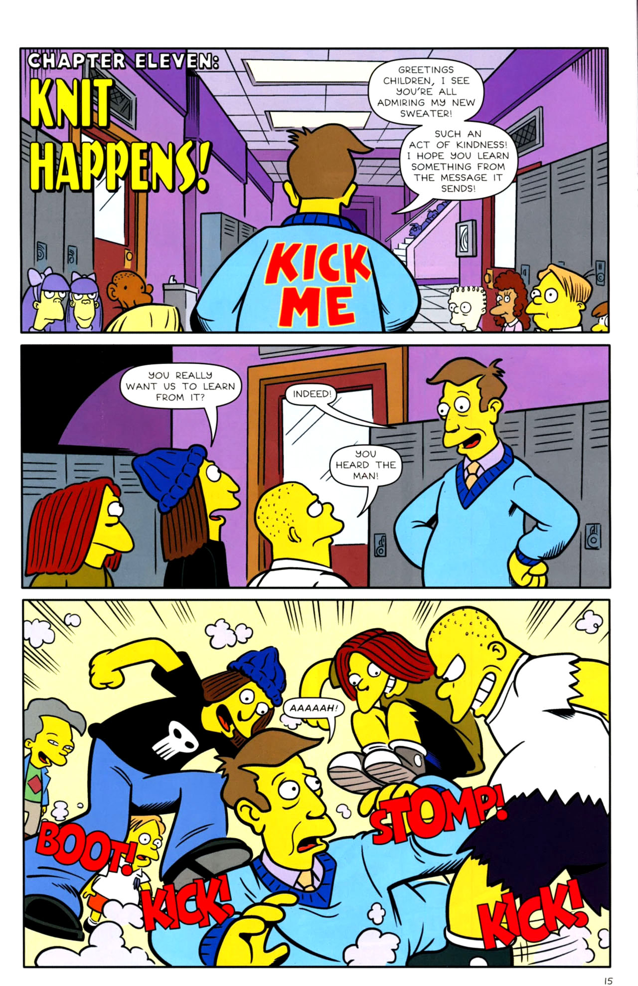 Read online Bongo Comics presents Comic Book Guy: The Comic Book comic -  Issue #4 - 17