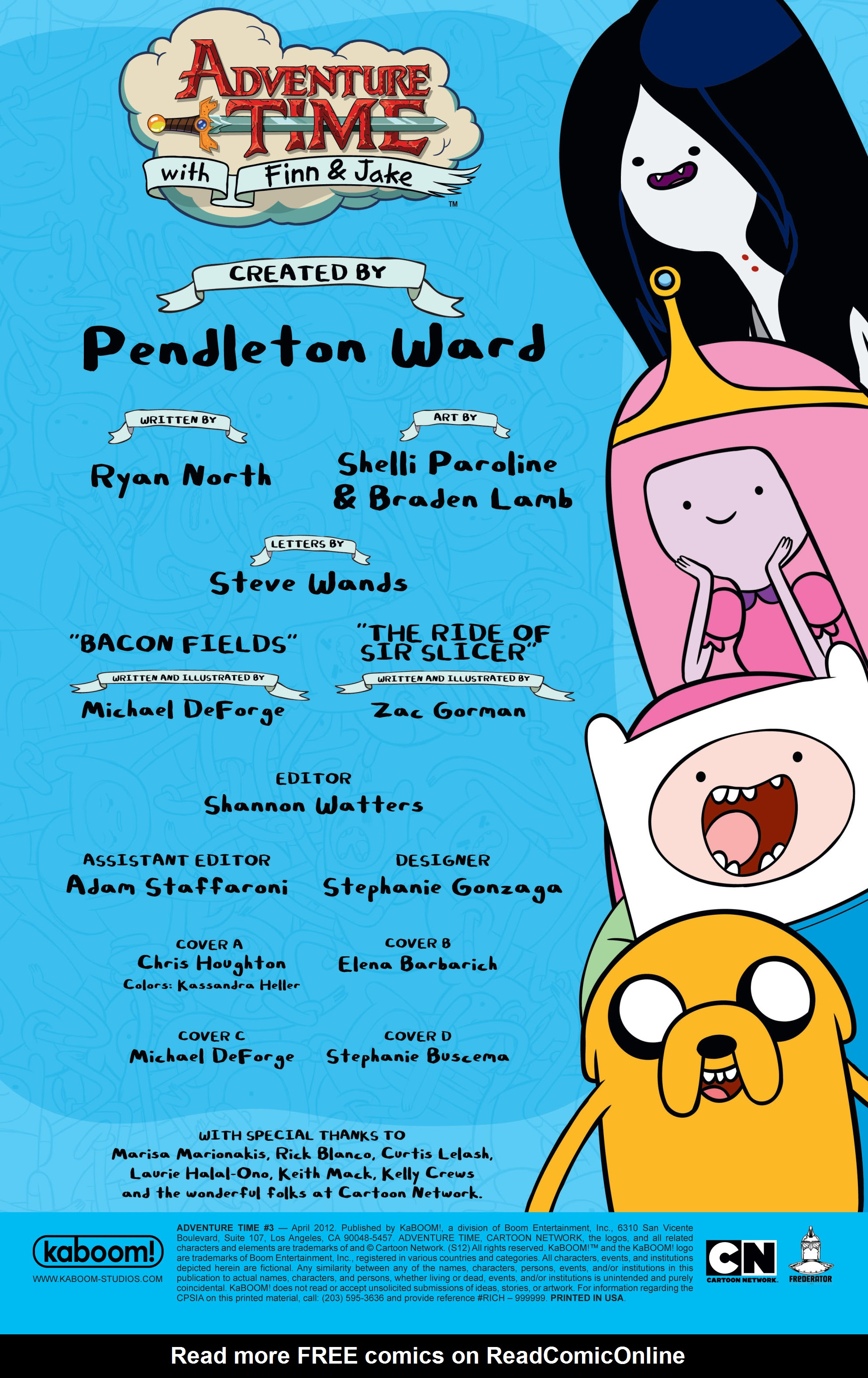 Read online Adventure Time comic -  Issue #3 - 5