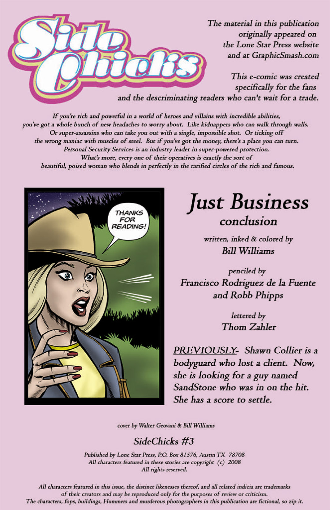 Read online SideChicks comic -  Issue #3 - 2